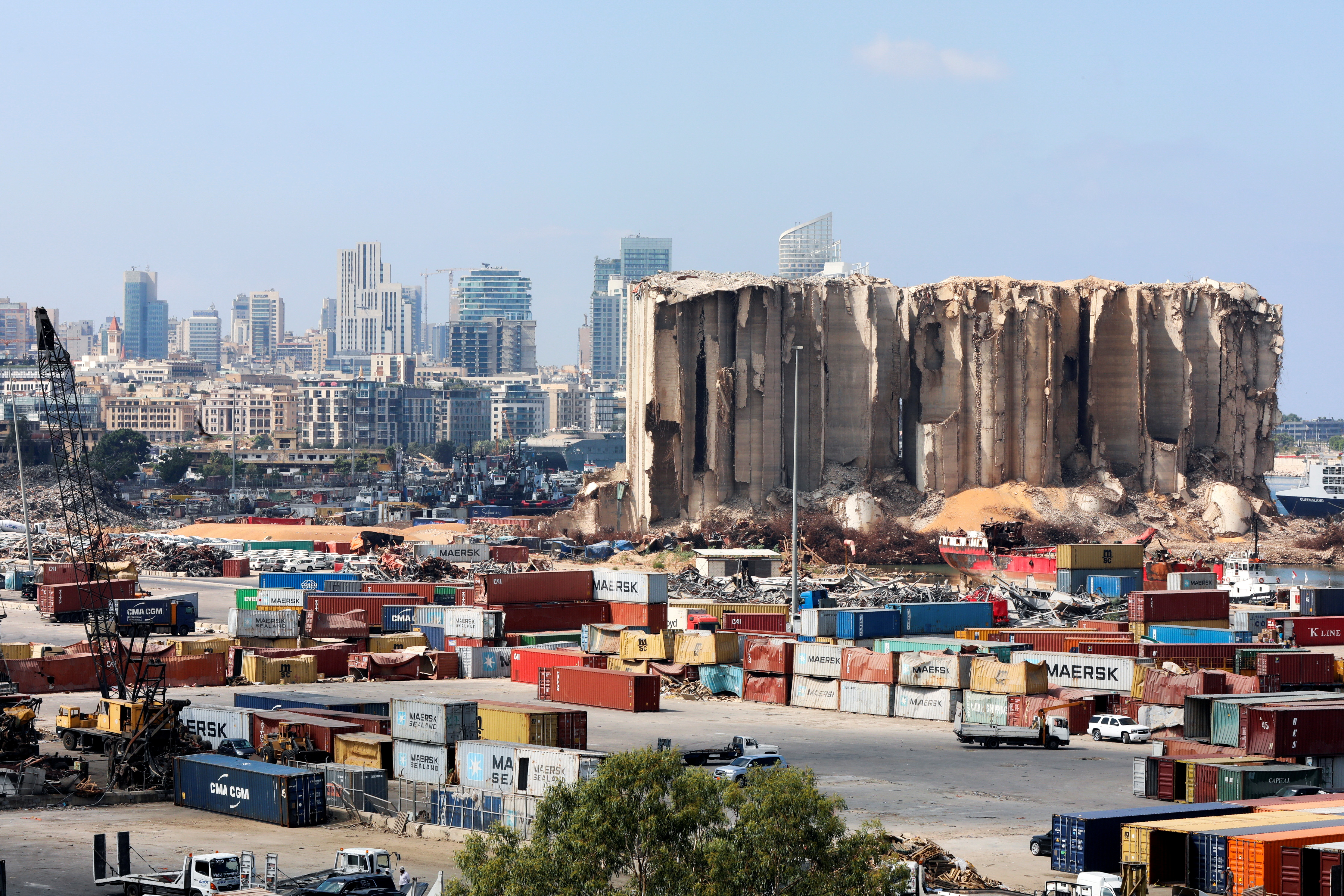 A general view shows the site of the 2020 Beirut port explosion, Lebanon September 29, 2021. REUTERS/Mohamed Azakir/File Photo