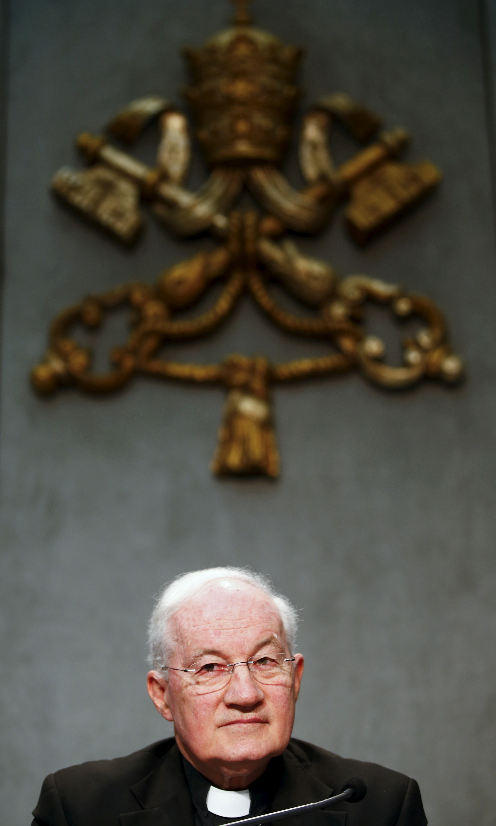 Cardinal Marc Ouellet attends a news conference to announce the canonisation of Fray Junipero Serra at the Vatican April 20, 2015. . REUTERS/Tony Gentile/File Photo