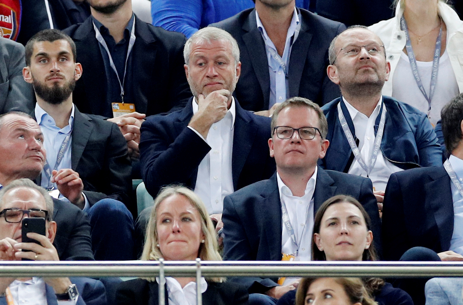 Soccer Football - Europa League Final - Chelsea v Arsenal - Baku Olympic Stadium, Baku, Azerbaijan - May 29, 2019  Chelsea owner Roman Abramovich in the stands beofre the match   REUTERS/Phil Noble