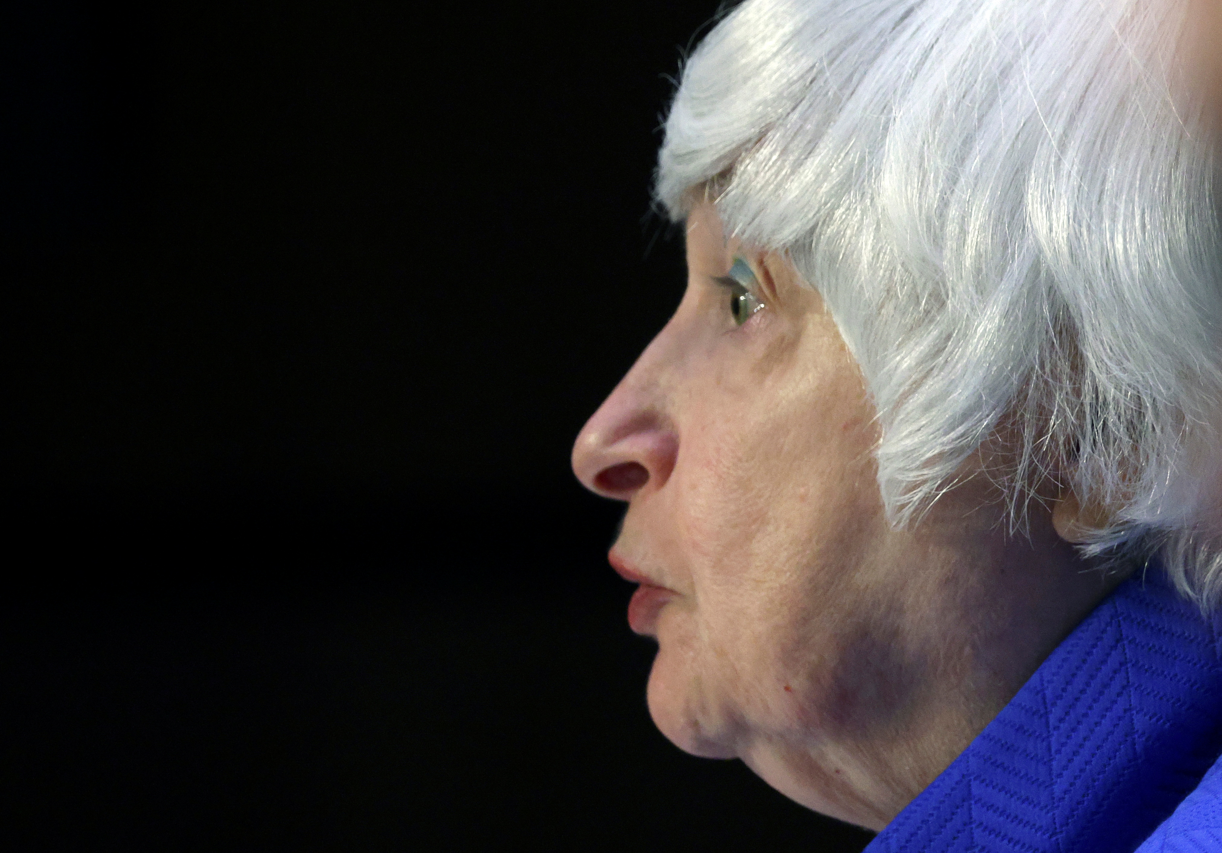 Treasury Secretary Janet Yellen testifies during a Senate Banking, Housing and Urban Affairs Committee hearing on the CARES Act, at the Hart Senate Office Building in Washington, DC, U.S., September 28, 2021. Kevin Dietsch/Pool via REUTERS