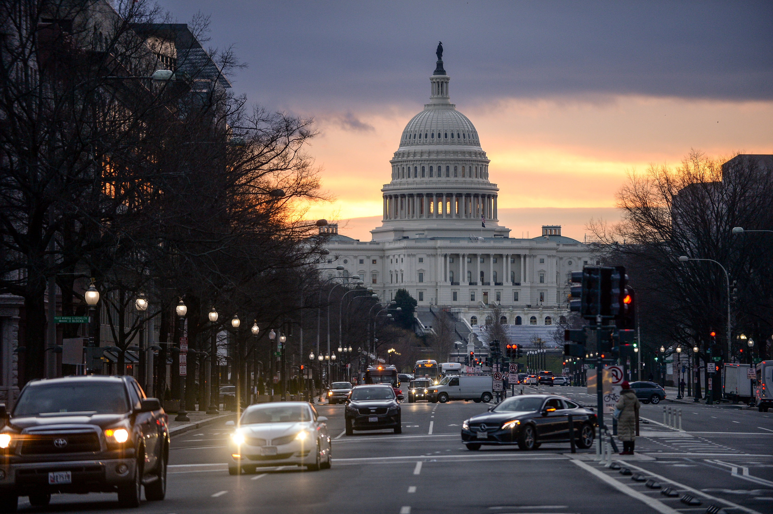 The U.S. Capitol is bathed in morning light at sunrise in Washington, U.S., February 14, 2020. REUTERS/Mary F. Calvert