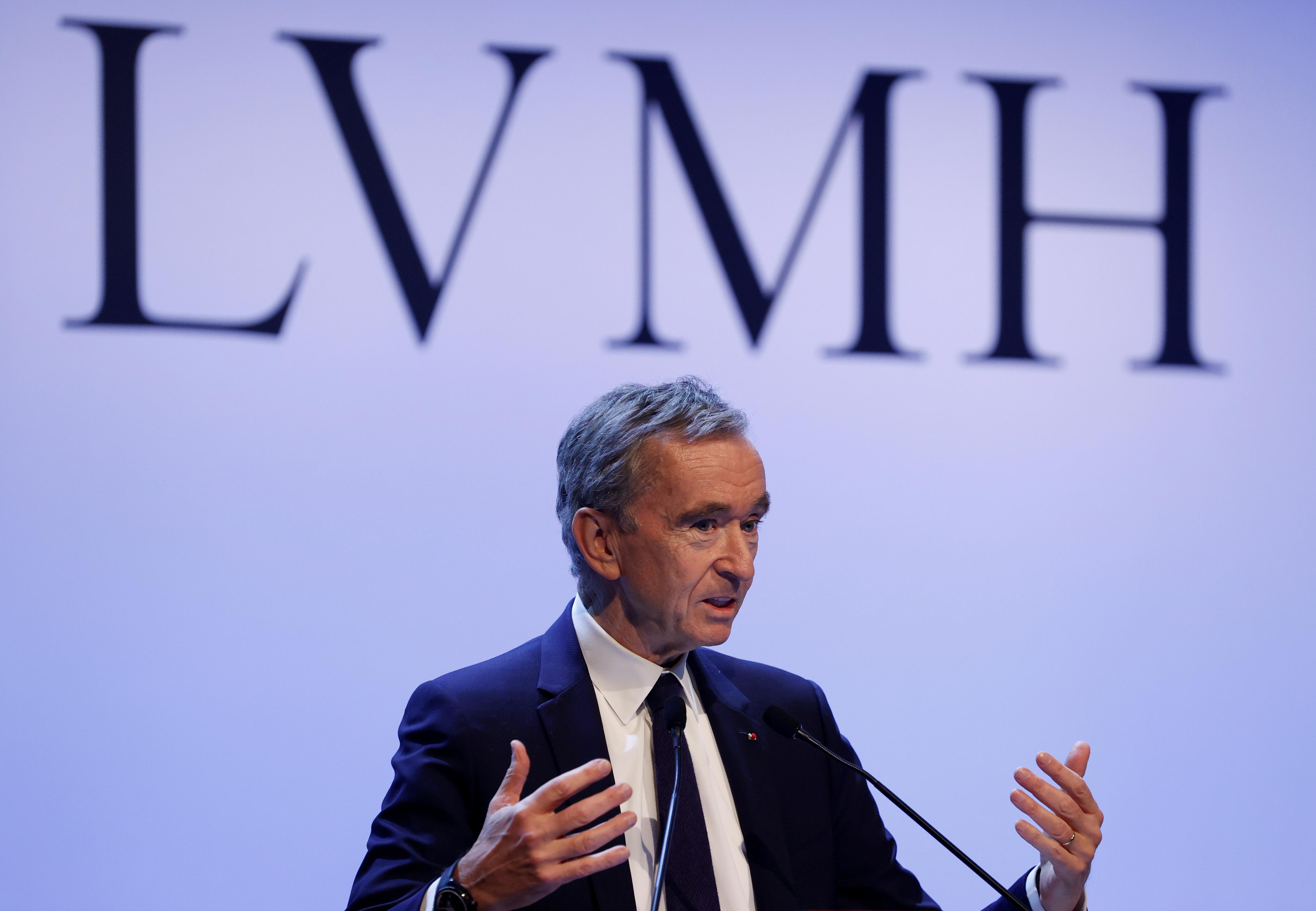 LVMH luxury group Chief Executive Bernard Arnault announces their 2019 results in Paris, France, January 28, 2020. REUTERS/Christian Hartmann
