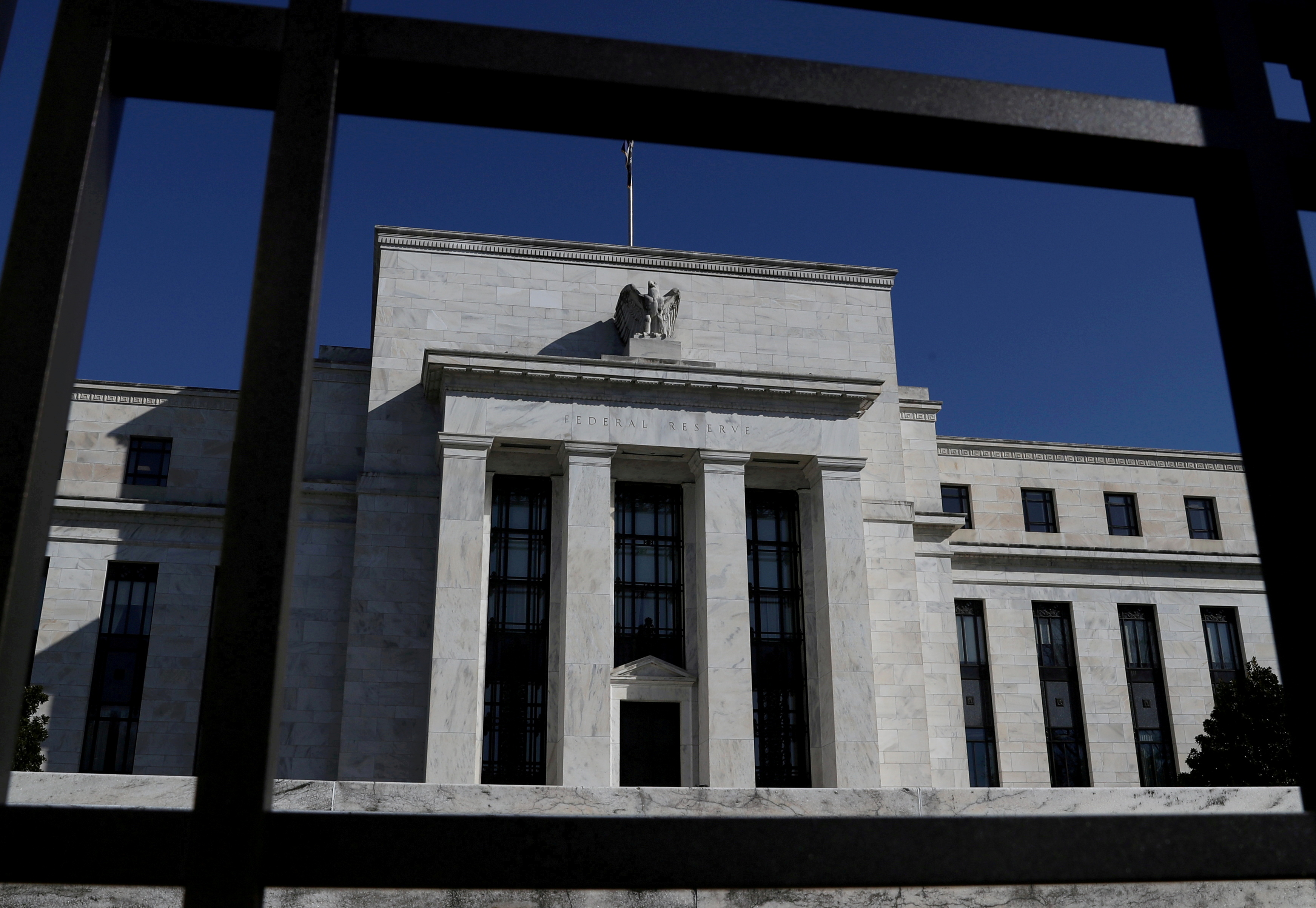 Federal Reserve Board building is pictured in Washington, U.S., March 19, 2019. REUTERS/Leah Millis/File Photo
