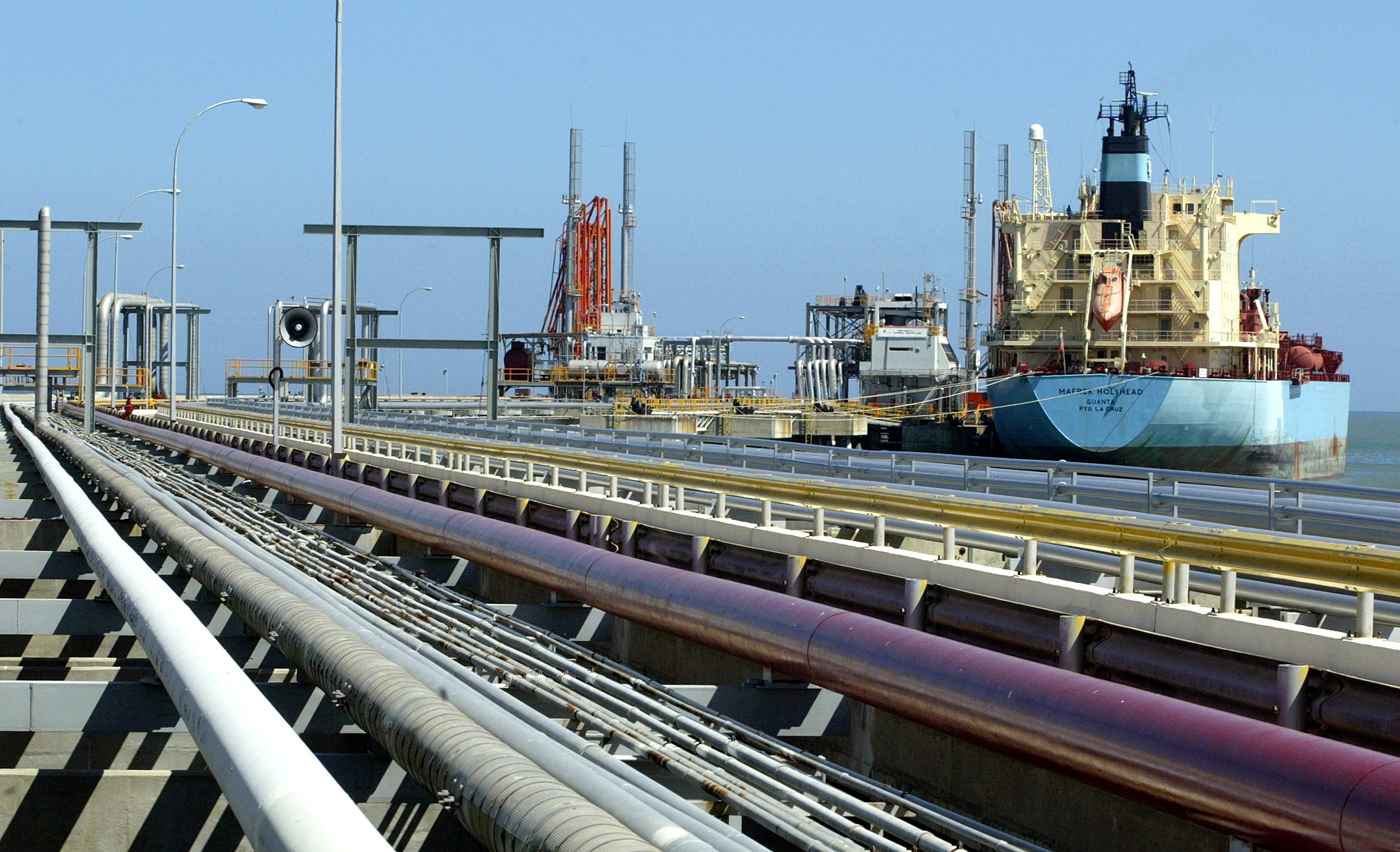 An oil tanker is seen at Jose refinery cargo terminal in Venezuela in this undated file photo/File Photo