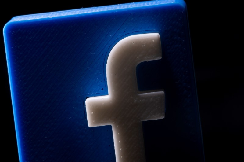 A 3D printed Facebook logo is seen in this illustration picture taken May 4, 2021. REUTERS/Dado Ruvic/File Photo