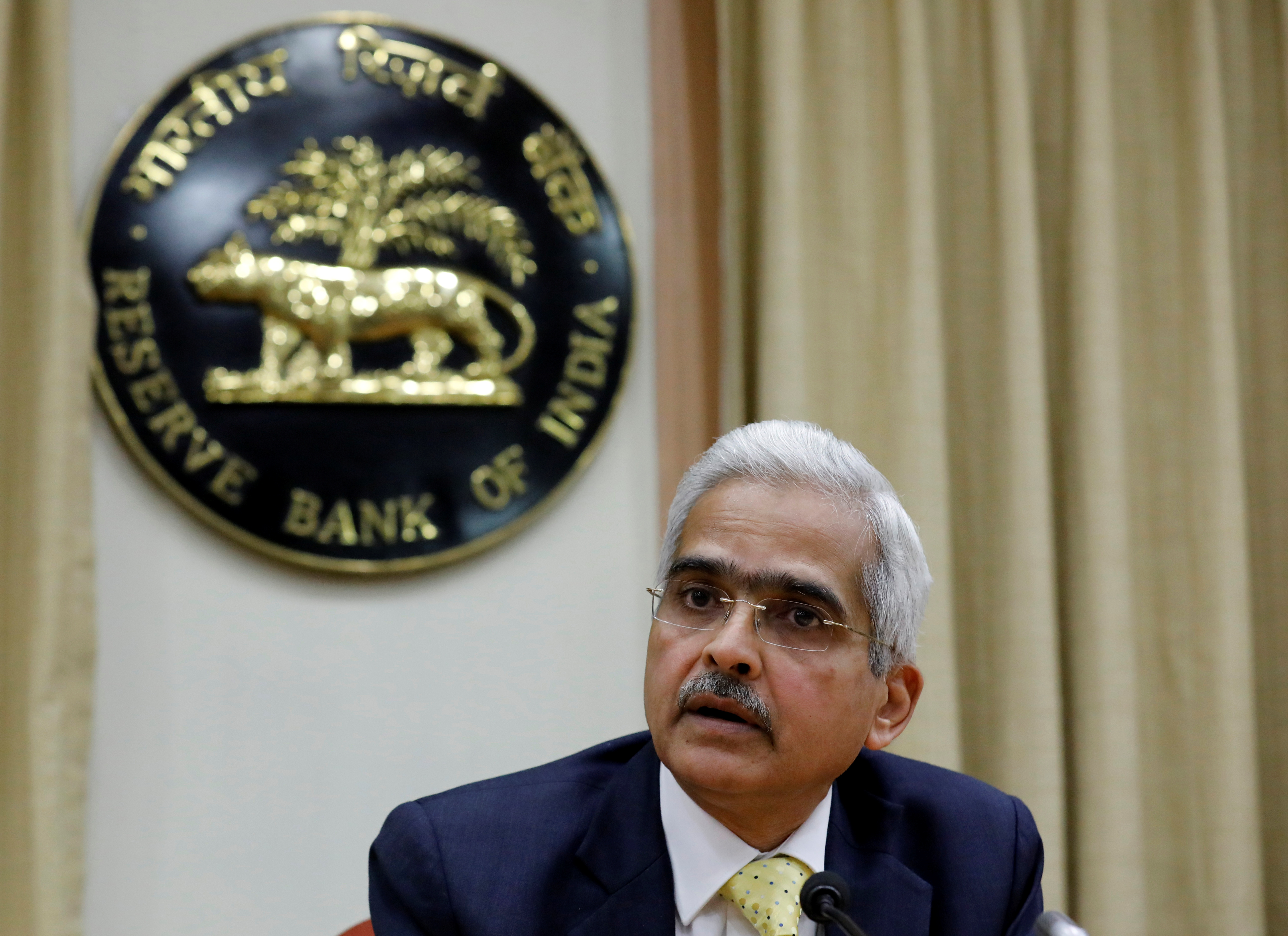 Shaktikanta Das, the Reserve Bank of India (RBI) Governor, attends a news conference in Mumbai, India, December 12, 2018. REUTERS/Danish Siddiqui/File photo