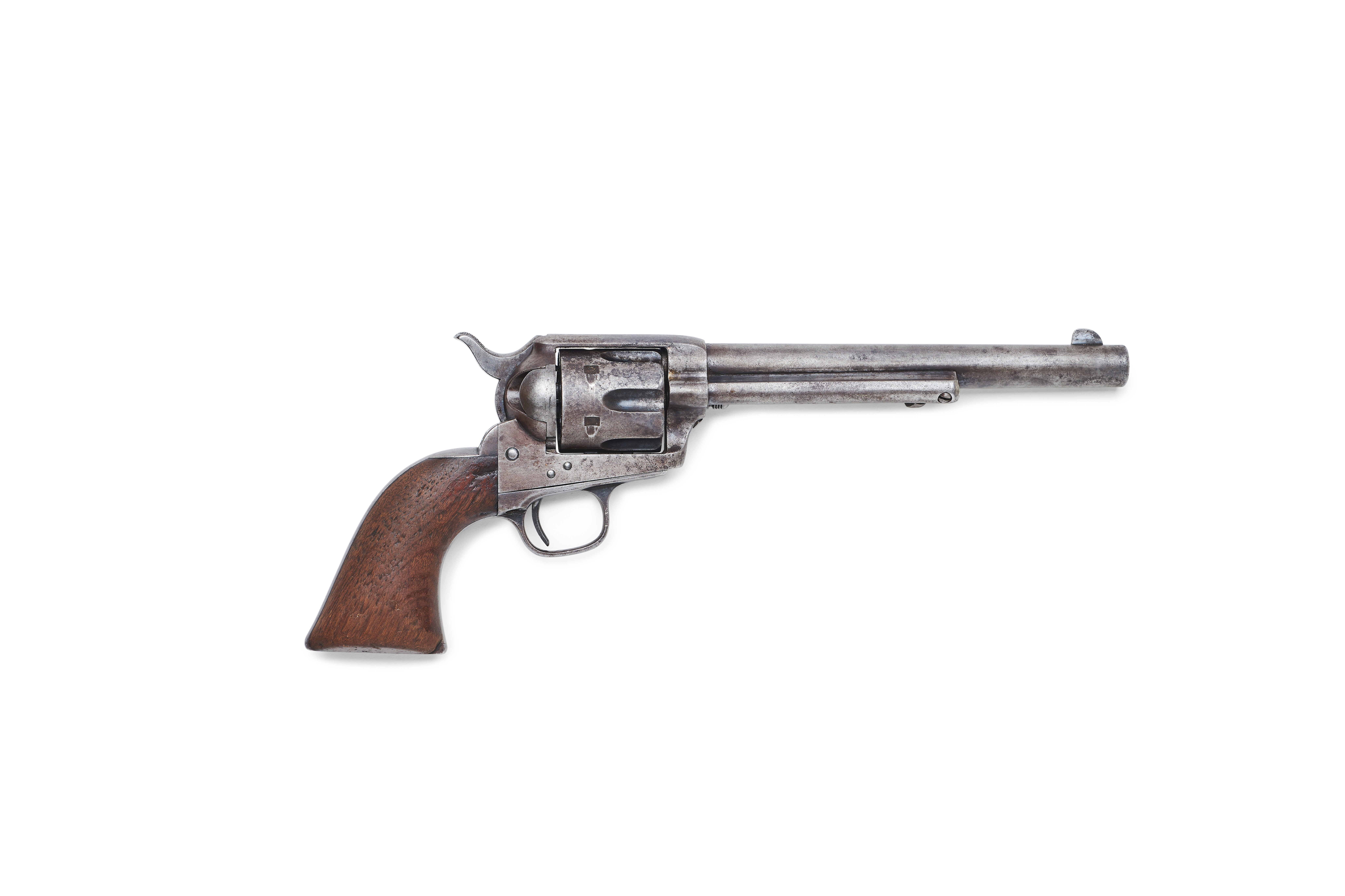 The Colt single action revolver used by Sheriff Pat Garrett to kill U.S. outlaw Billy the Kid in July 1881 in New Mexico is seen in an undated photo before an auction at Bonhams in Los Angeles, California, U.S. Courtesy of the Earle Collection and Bonhams/Handout via REUTERS