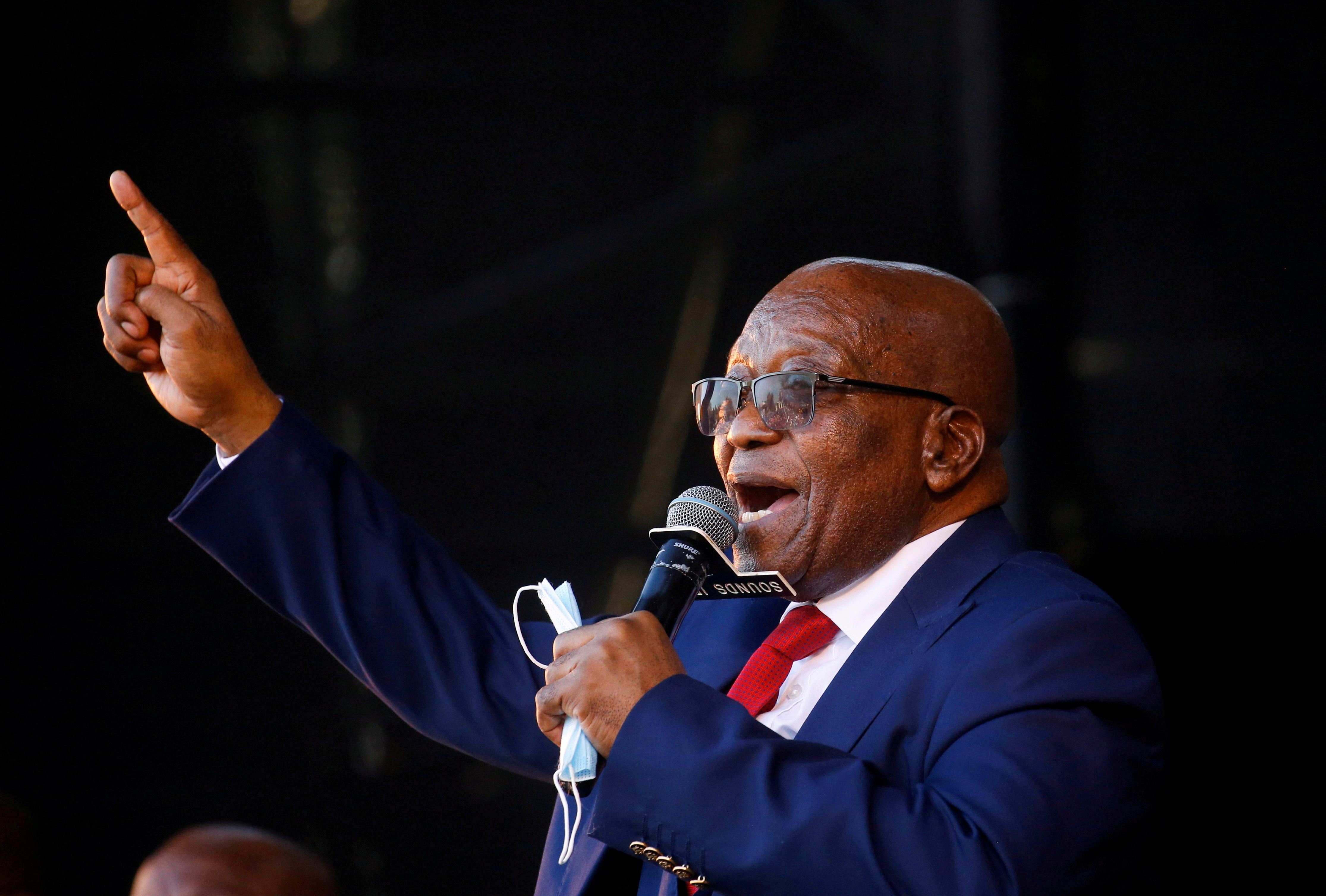Former South African President Jacob Zuma, who is facing fraud and corruption charge.  REUTERS/Rogan Ward
