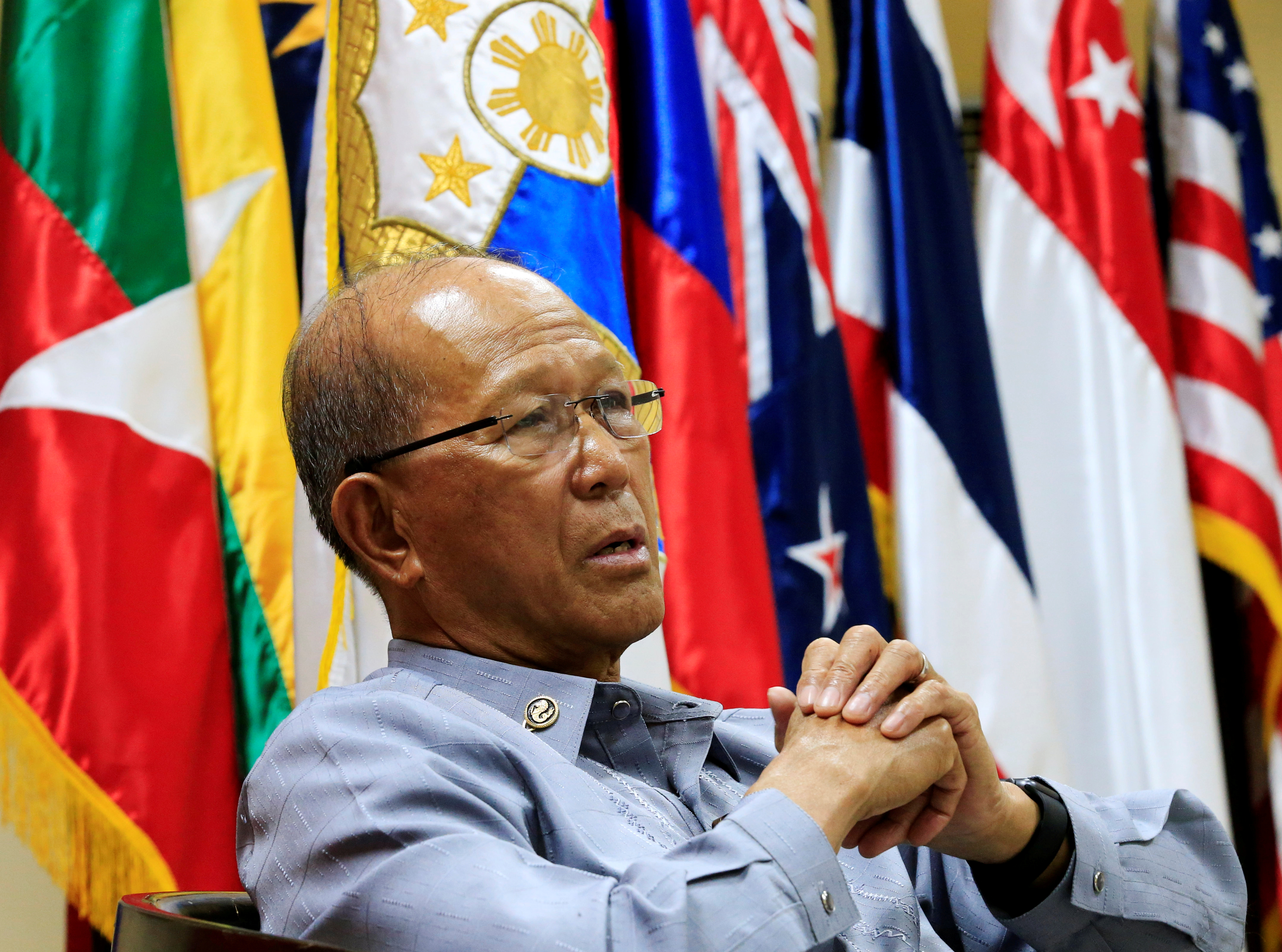 Philippine Defence Secretary Delfin Lorenzana answer questions during a Reuters interview at the military headquarters of Camp Aquinaldo in Quezon city, metro Manila, Philippines February 9, 2017. REUTERS/Romeo Ranoco/
