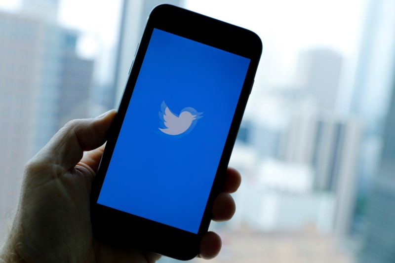 The Twitter App loads on an iPhone in this illustration photograph taken in Los Angeles, California, U.S., July 22, 2019.    REUTERS/Mike Blake/File Photo
