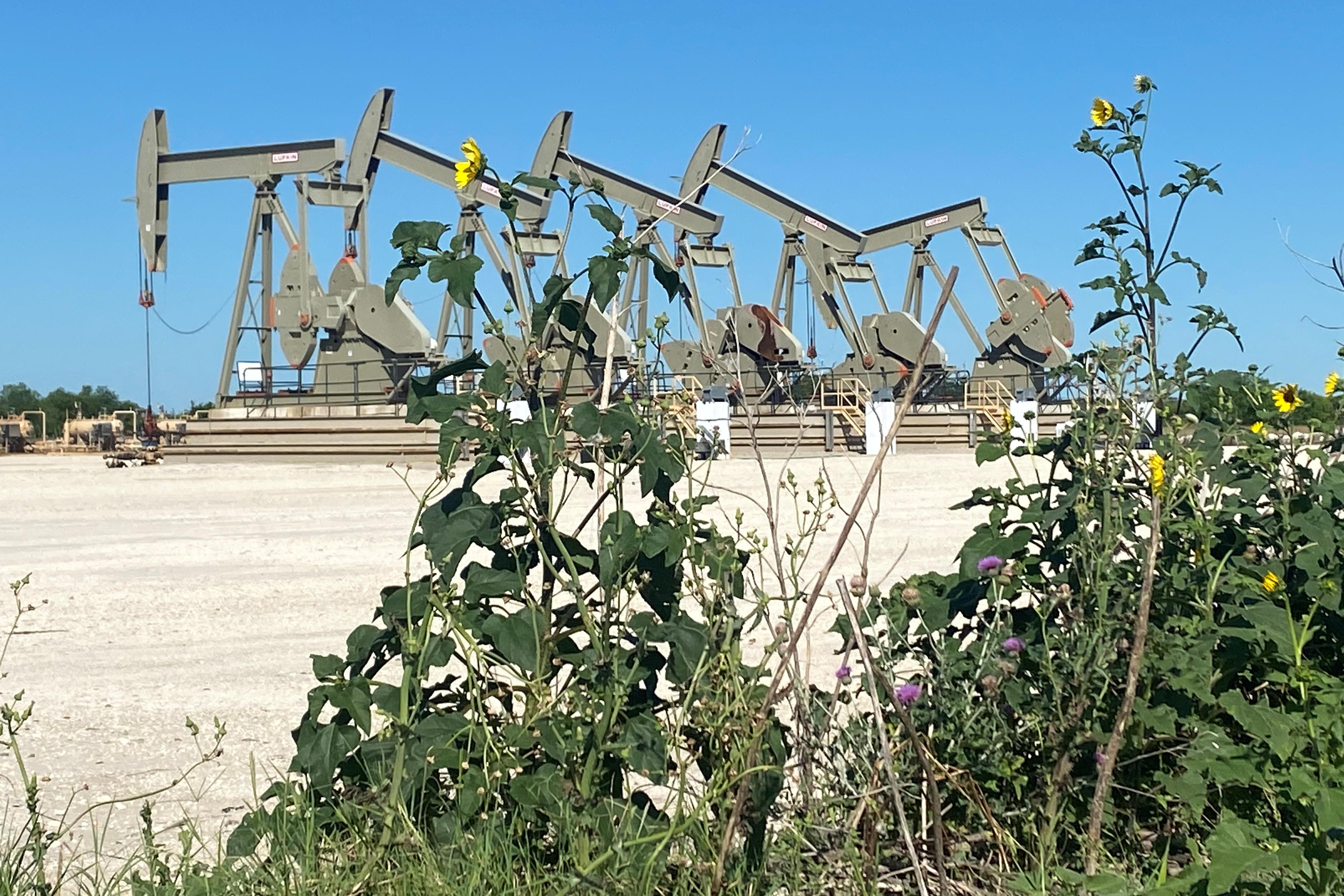A Marathon Oil well site in Texas.  REUTERS/Jennifer Hiller