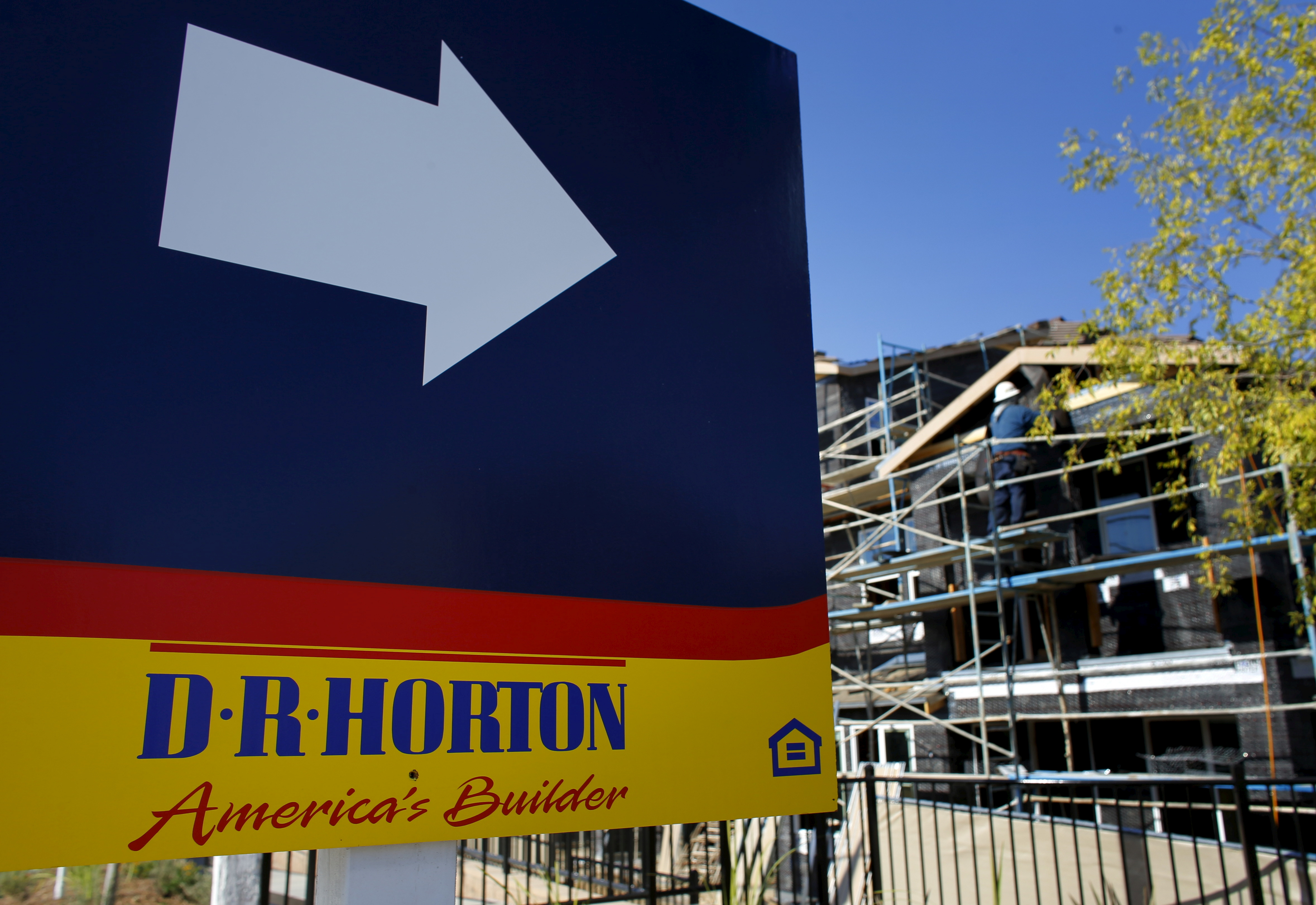 A D.R. Horton home building project is pictured in San Marcos, California July 28, 2015.  REUTERS/Mike Blake/File Photo