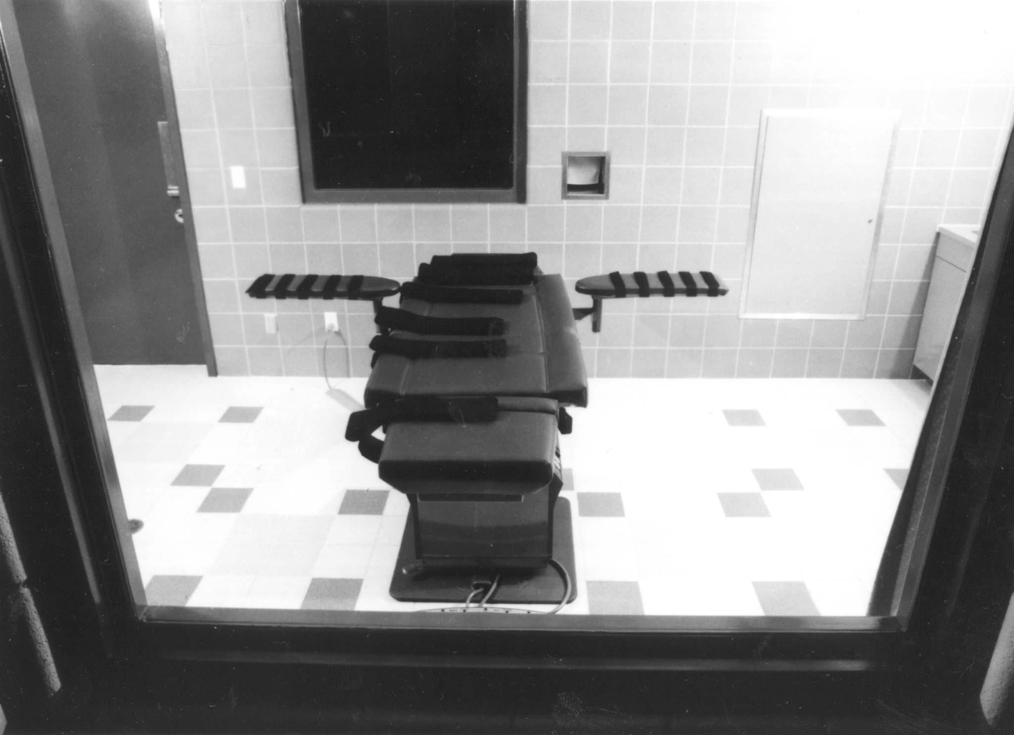 Execution chamber of the U.S. Penitentiary in Terre Haute, Indiana
