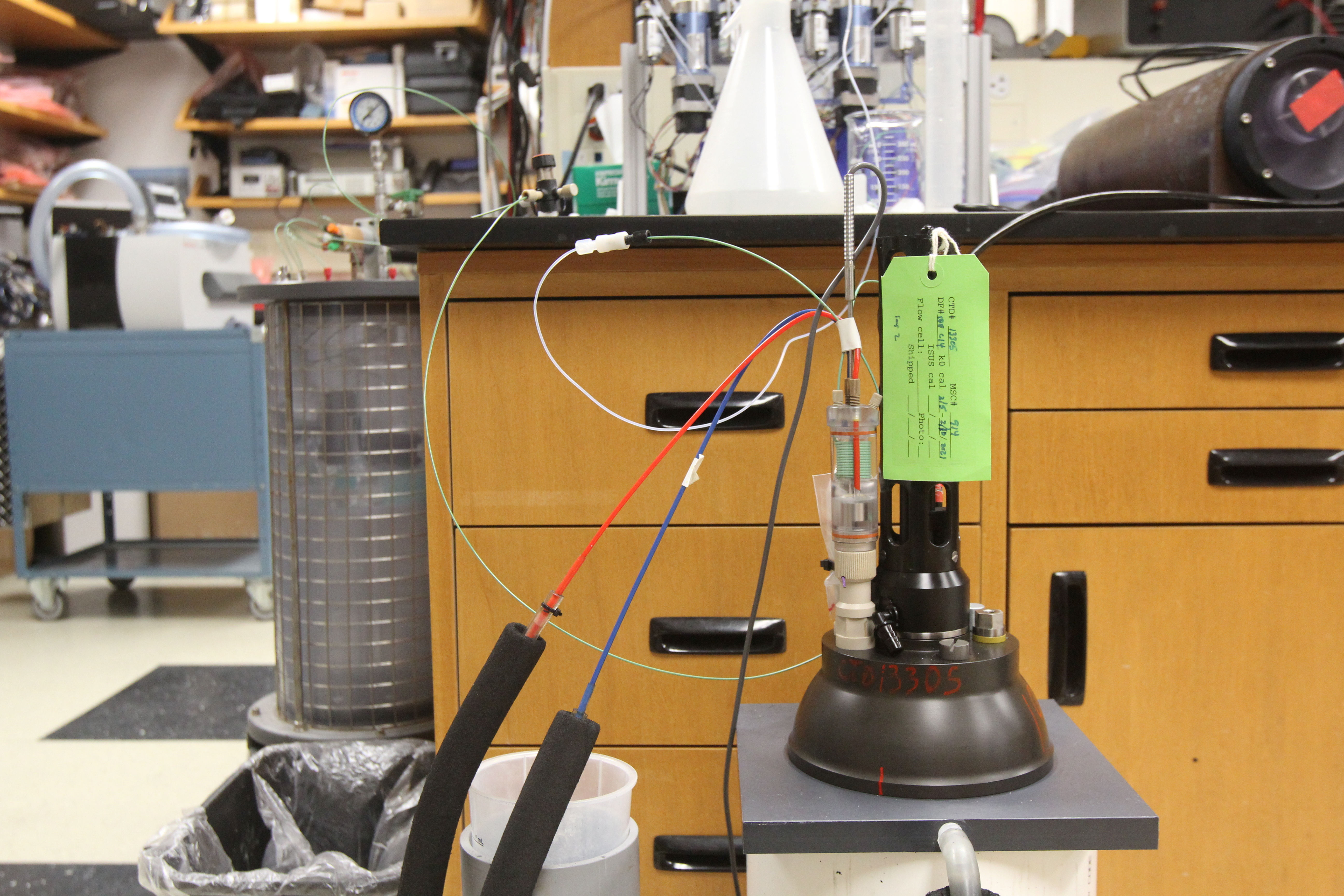 A device used to calibrate a nitrate sensor is seen in a laboratory at the Monterey Bay Aquarium Research Institute in Moss Landing, California, U.S. on March 9, 2021. Picture taken March 9, 2021. REUTERS/Nathan Frandino