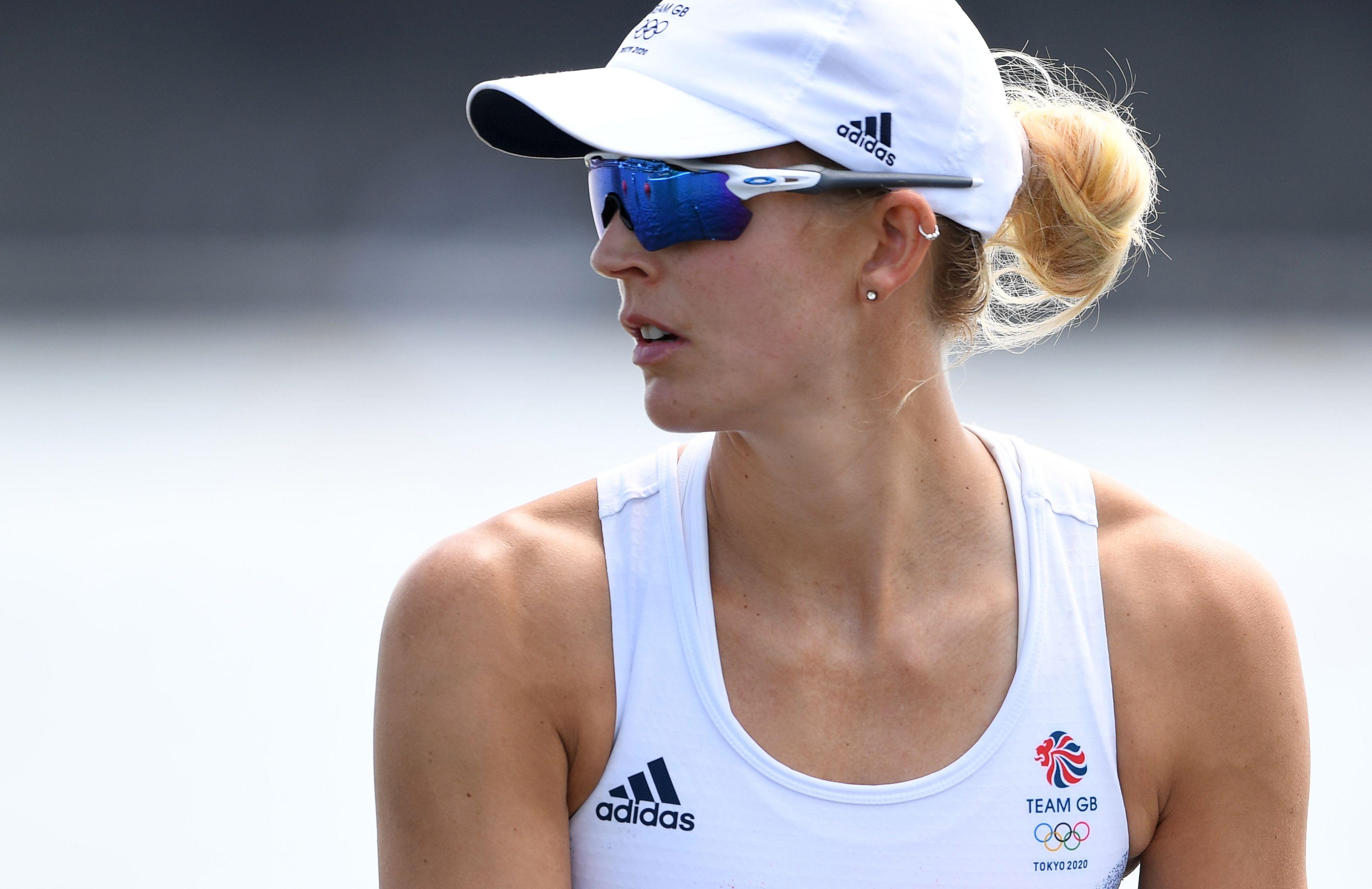 Tokyo 2020 Olympics - Rowing - Women's Single Sculls - Heats - Sea Forest Waterway, Tokyo, Japan - July 23, 2021. Victoria Thornley of Britain REUTERS/Piroschka Van De Wouw