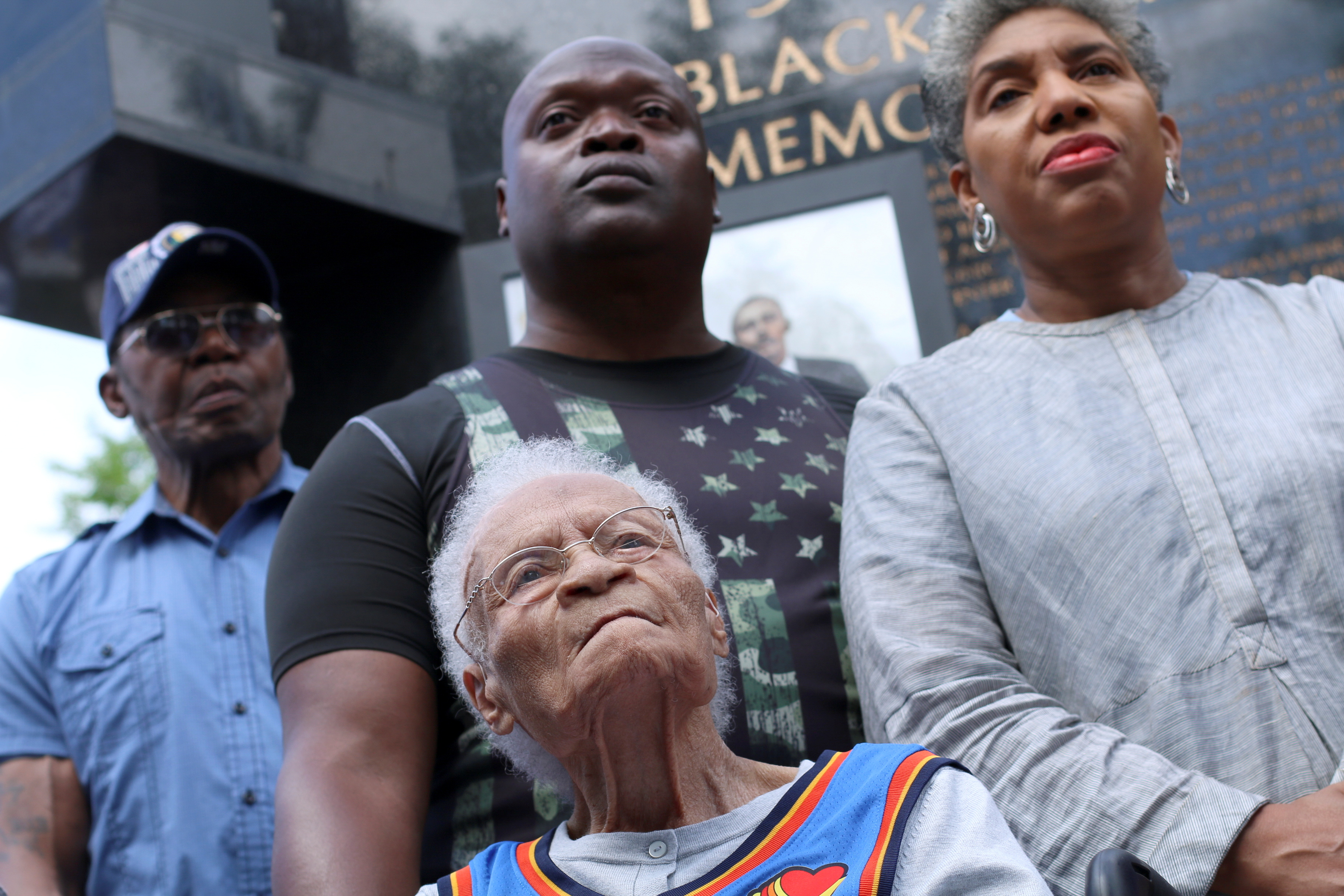 The oldest known living survivor of the Tulsa Race Massacre, Viola Fletcher, 107, attends the Black Wall Street Legacy Festival 2021 in Tulsa, Oklahoma, U.S., May 28, 2021. REUTERS/Polly Irungu