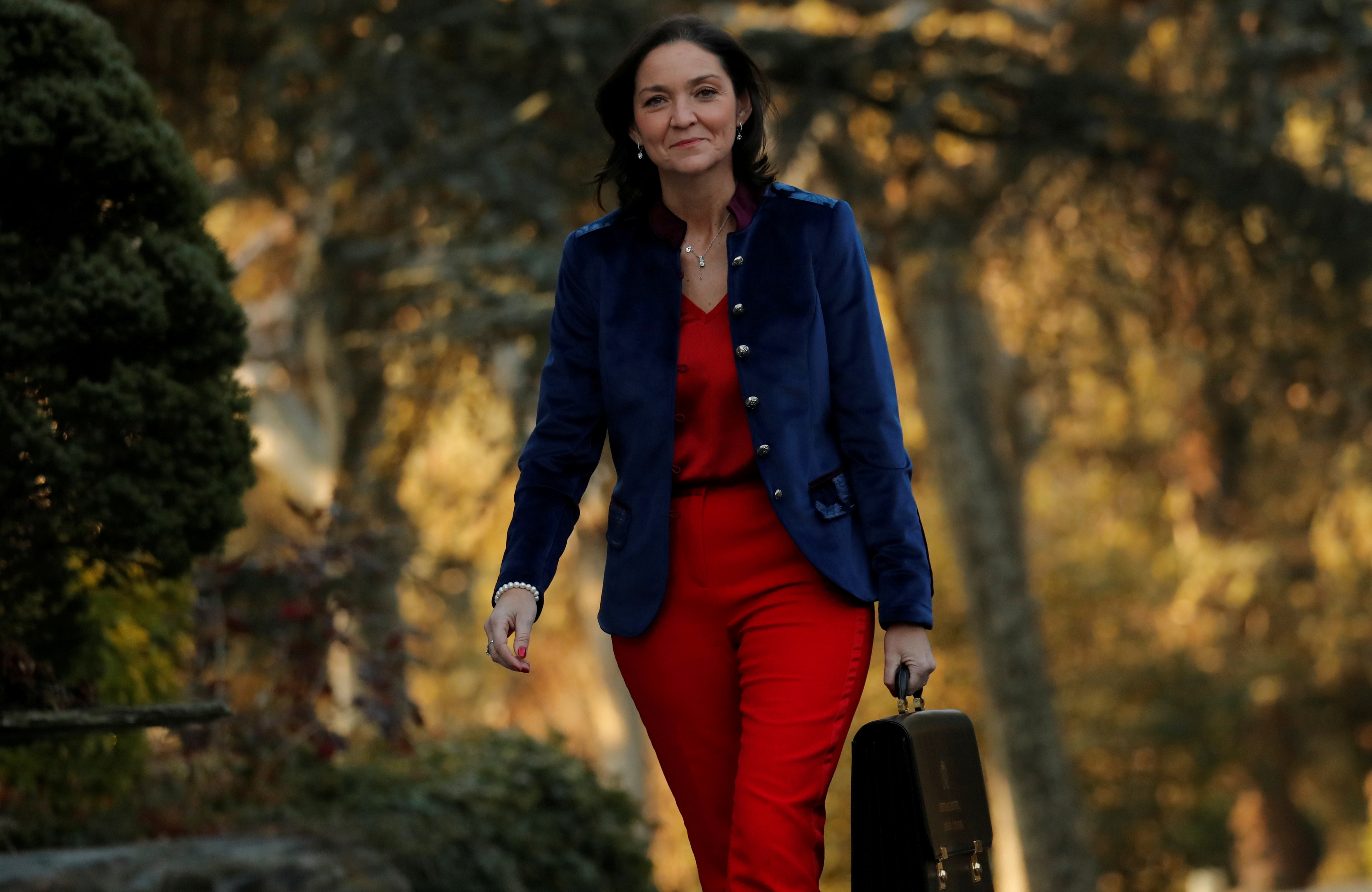 Spain's Industry Minister Maria Reyes Maroto arrives to attend the first cabinet meeting at the Moncloa Palace in Madrid, Spain, January 14, 2020. REUTERS/Susana Vera/File Photo