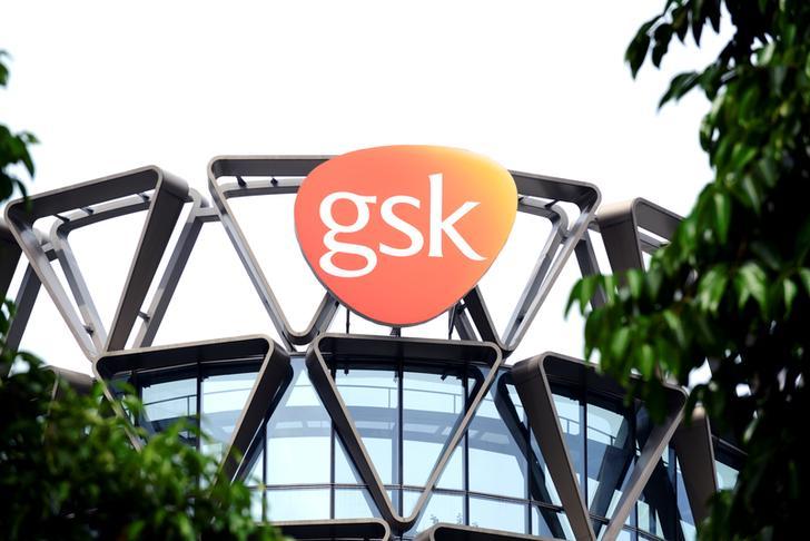 The GlaxoSmithKline logo is seen in Singapore, March 21, 2018. REUTERS/Loriene Perera