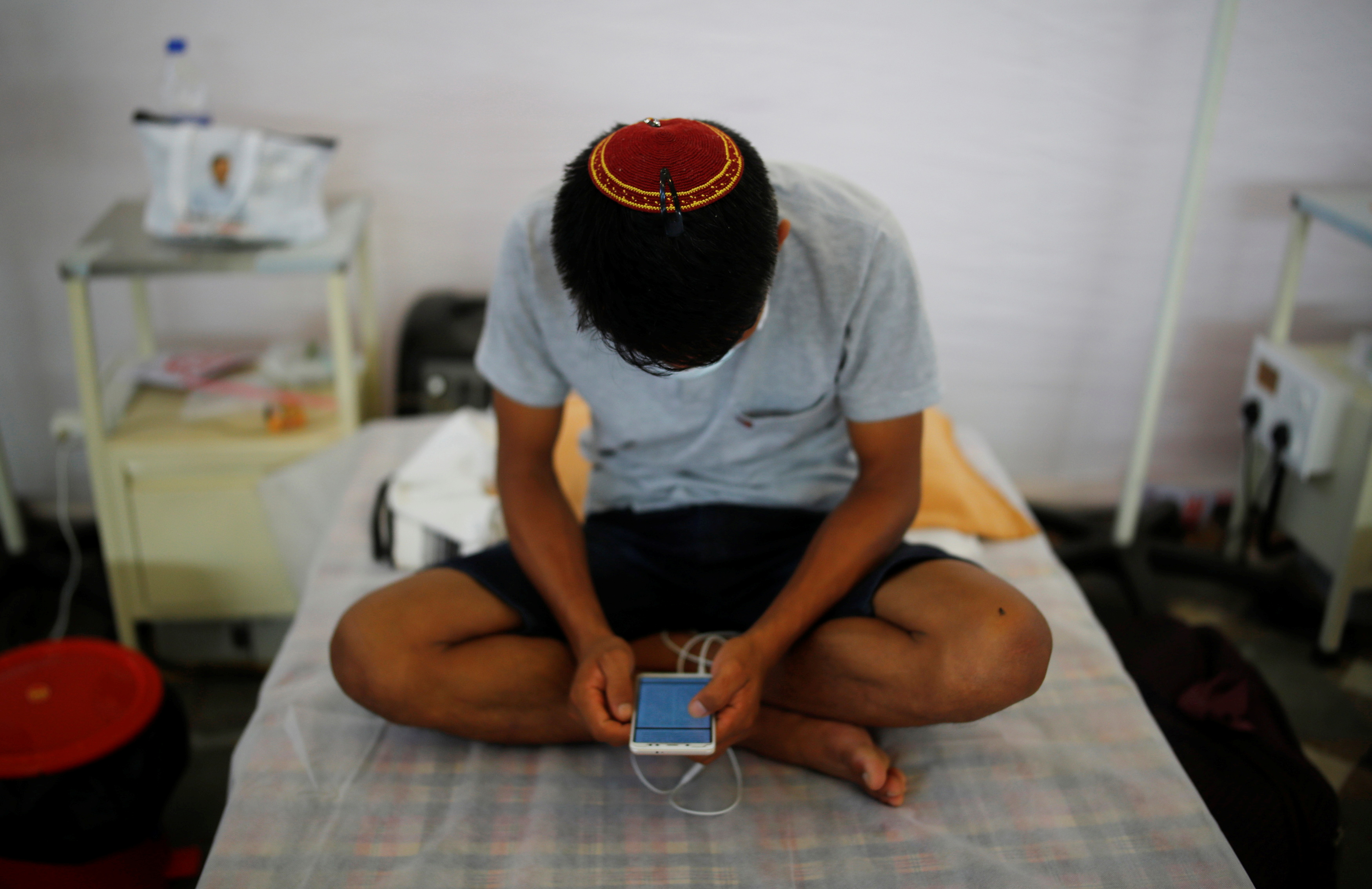 An Indian Jew, member of the Bnei Menashe, or the Children of Menashe, one of the