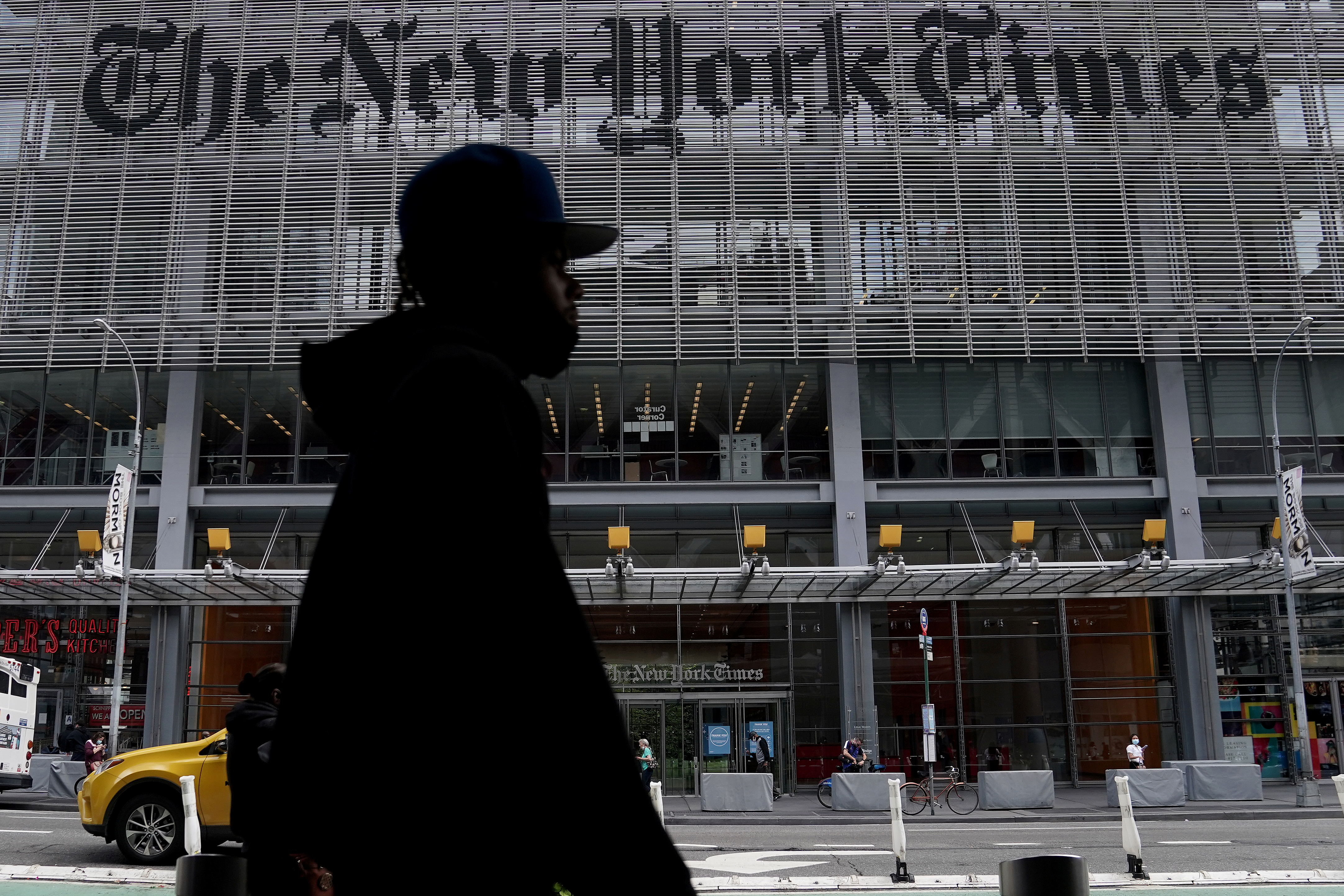 The New York Times office is pictured in the Manhattan borough of New York City, New York, U.S., September 28, 2020.  REUTERS/Carlo Allegri