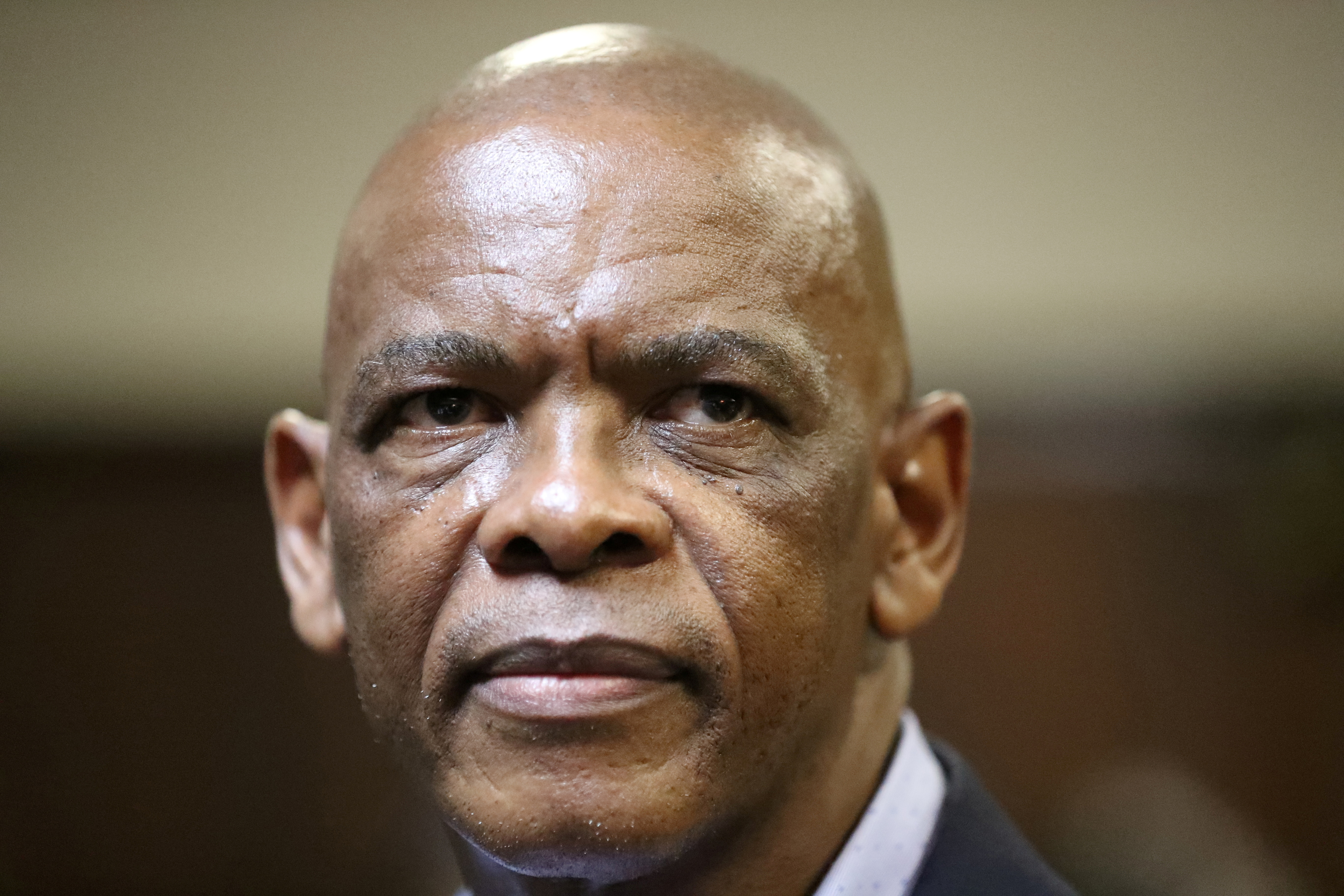 Ace Magashule, the secretary general of South Africa's ruling African National Congress looks on as he appears at the Bloemfontein high court in the Free State province, South Africa, November 13, 2020. REUTERS/Siphiwe Sibeko/File Photo