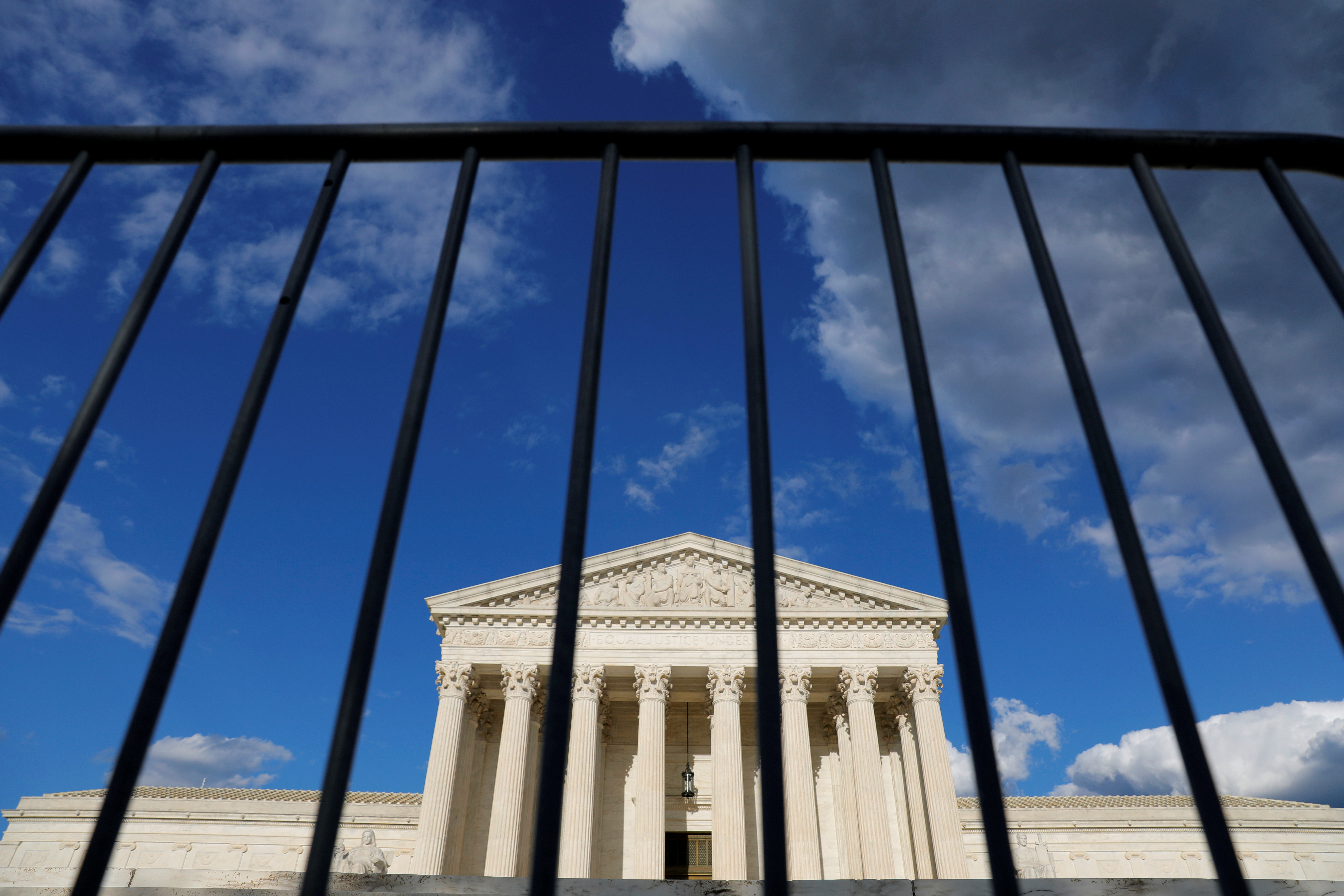 Fencing is seen in front of the United States Supreme Court Building in Washington, D.C., U.S., May 13, 2021. REUTERS/Andrew Kelly