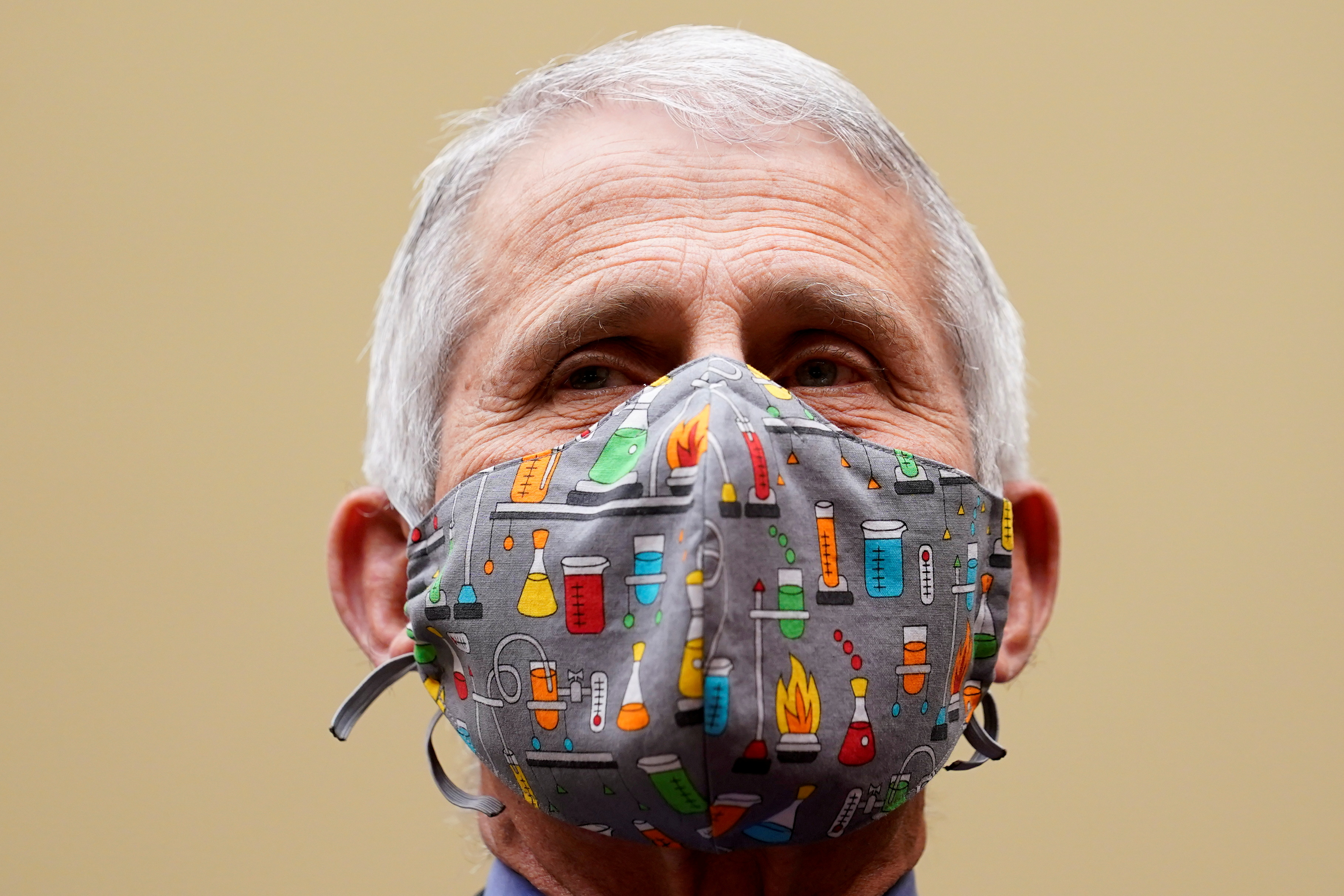 Dr. Anthony Fauci, director of the National Institute of Allergy and Infectious Diseases testifies before a House Select Subcommittee on the Coronavirus Crisis on the Capitol Hill in Washington, U.S., April 15, 2021. Susan Walsh/Pool via REUTERS/File Photo