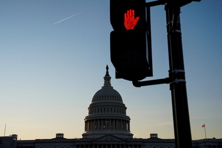 The U.S. Capitol building exterior is seen at sunset in Washington, January 21, 2020. REUTERS/Sarah Silbiger.