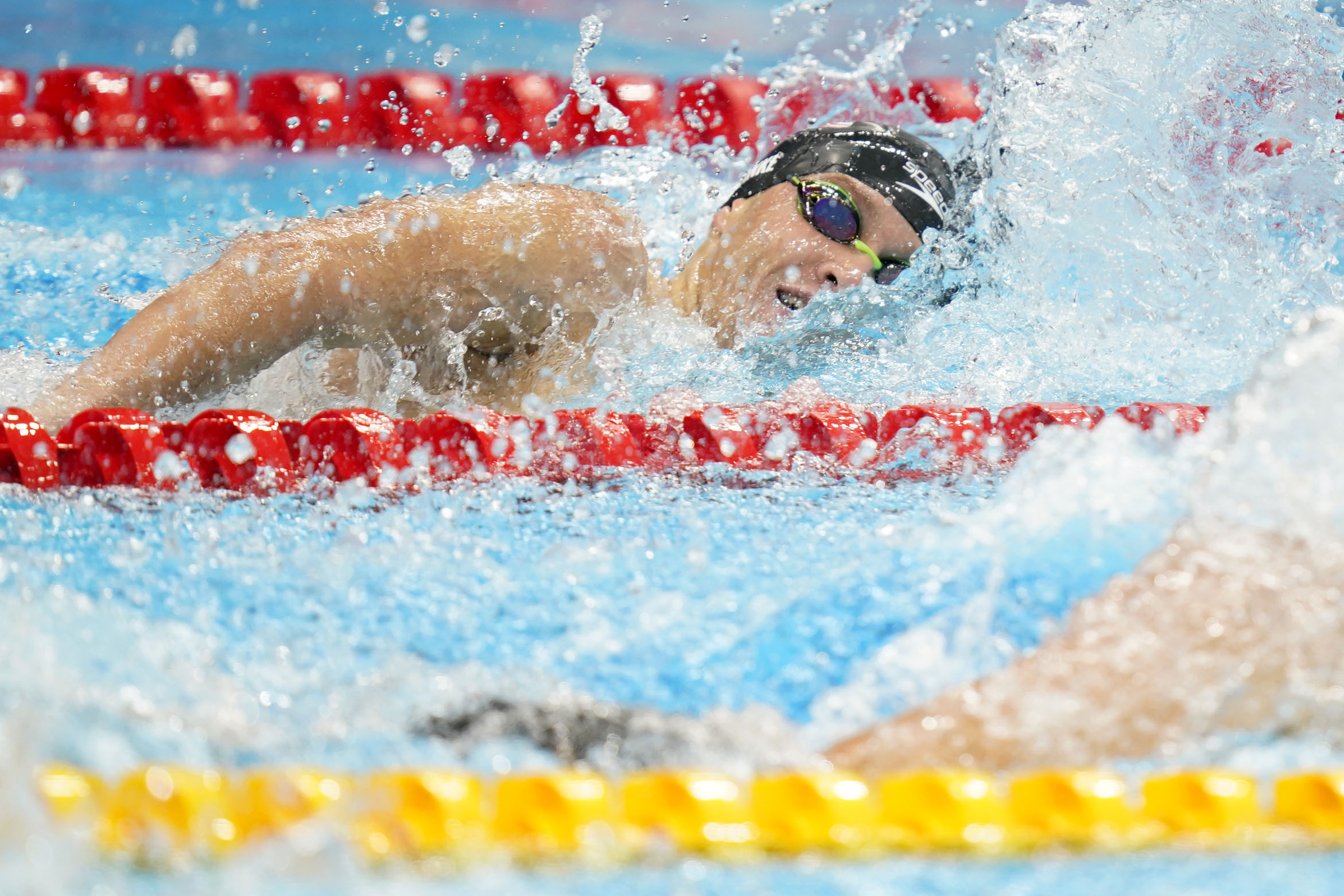 Jul 29, 2021; Tokyo, Japan; Robert Finke (USA) competes in the men's 800m freestyle final during the Tokyo 2020 Olympic Summer Games at Tokyo Aquatics Centre. Mandatory Credit: Grace Hollars-USA TODAY Sports