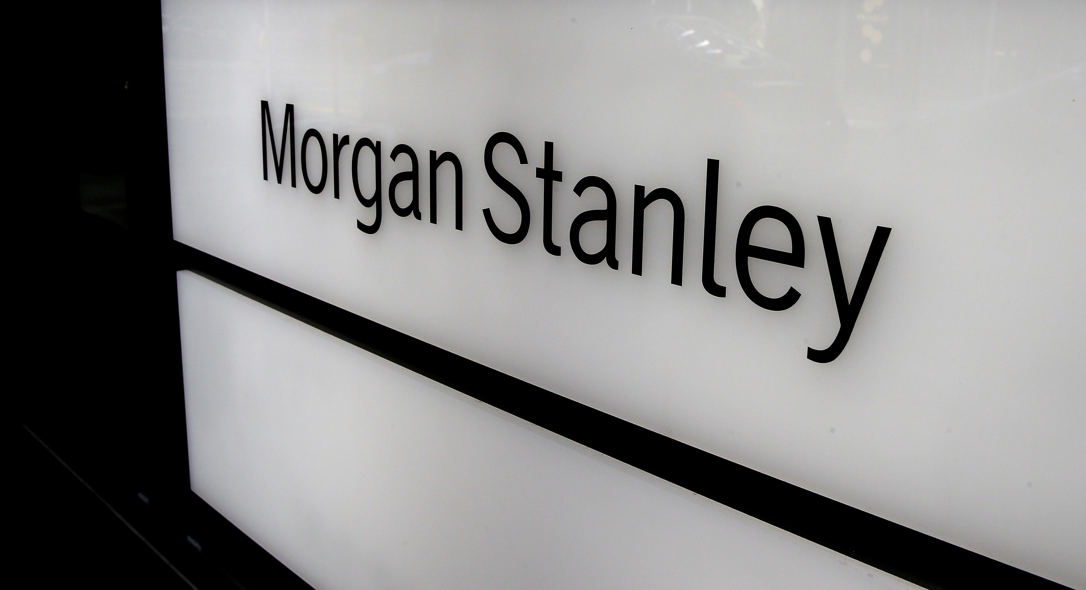 The logo of Morgan Stanley is seen at an office building in Zurich, Switzerland, September 22, 2016.  REUTERS/Arnd Wiegmann/File Photo