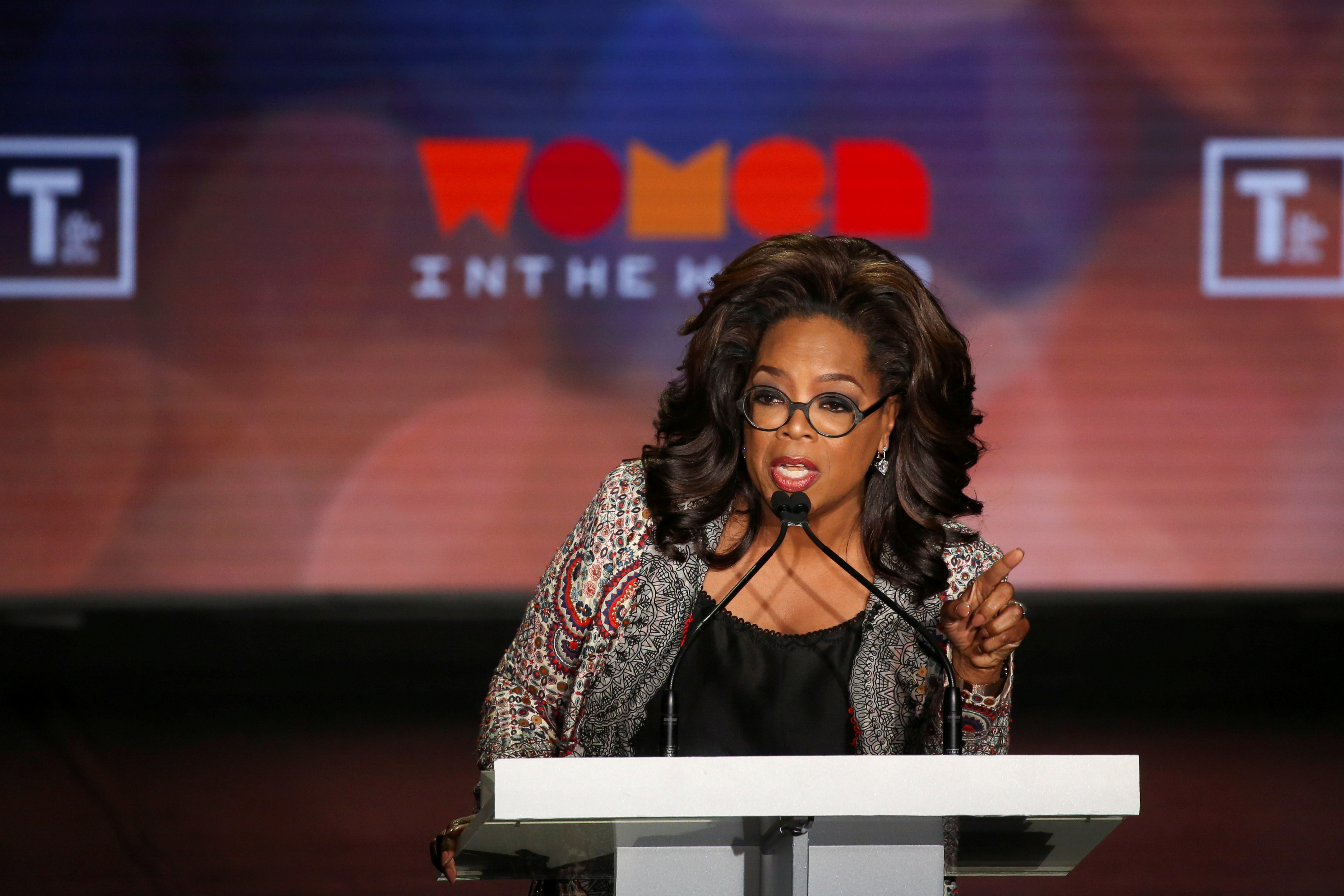 Oprah Winfrey takes part in the Women In The World Summit in New York City, U.S., April 10, 2019. REUTERS/Caitlin Ochs/File Photo