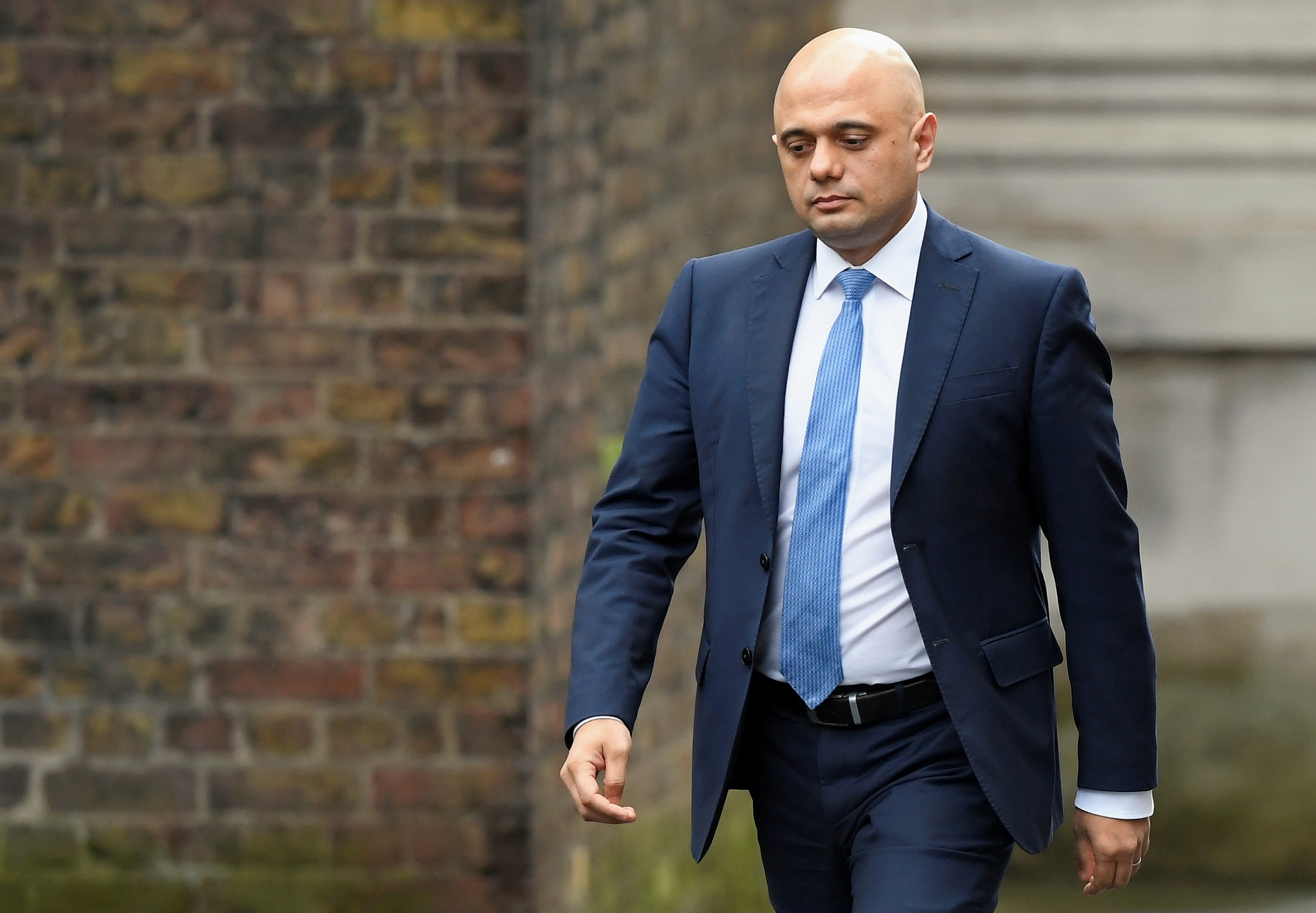 Sajid Javid arrives at Downing Street in London, Britain February 13, 2020. REUTERS/Toby Melville