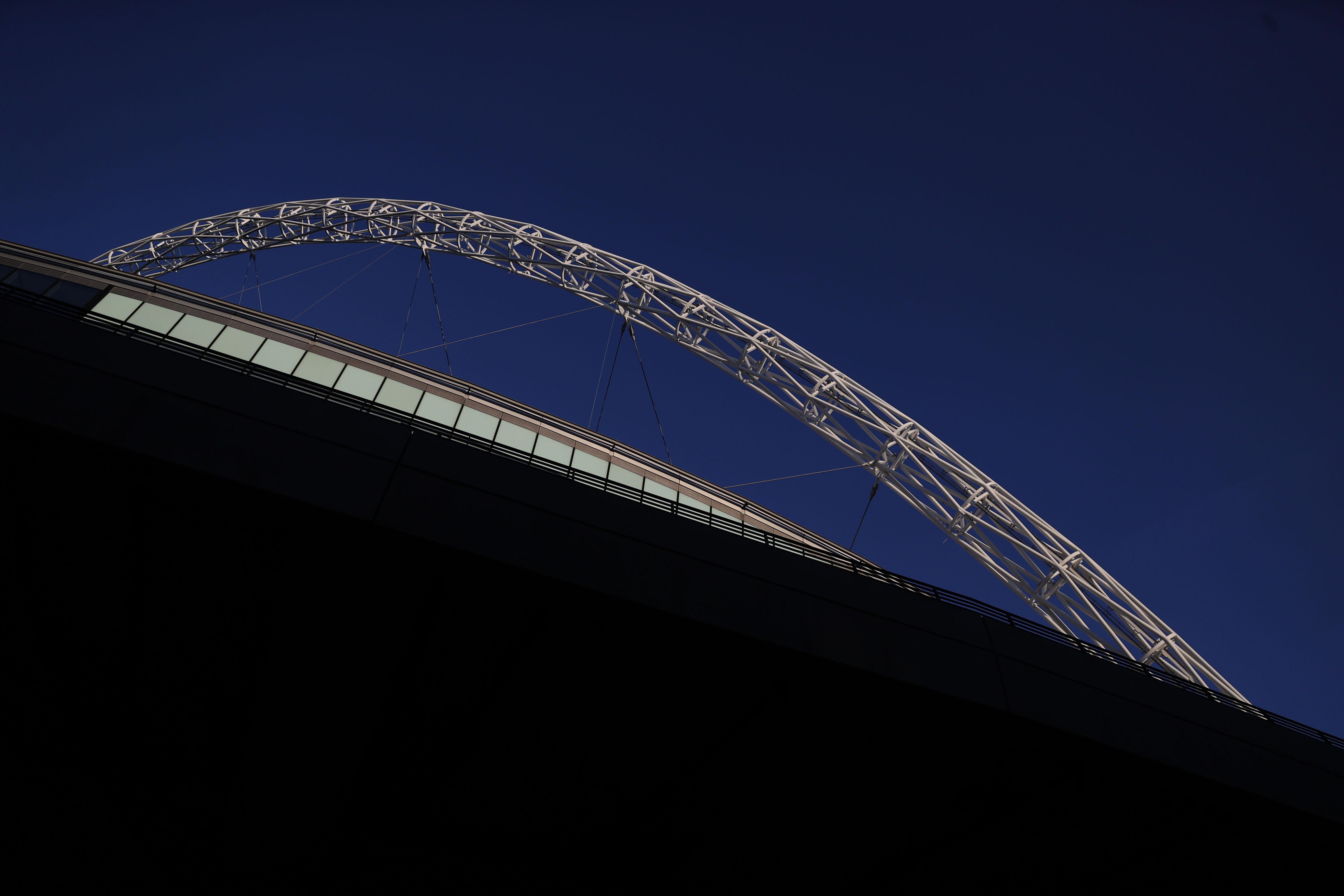 Soccer Football - Euro 2020 - Group D - General view of Wembley Stadium ahead of the England v Croatia match - Wembley Stadium, London, Britain - June 12, 2021 REUTERS/Carl Recine