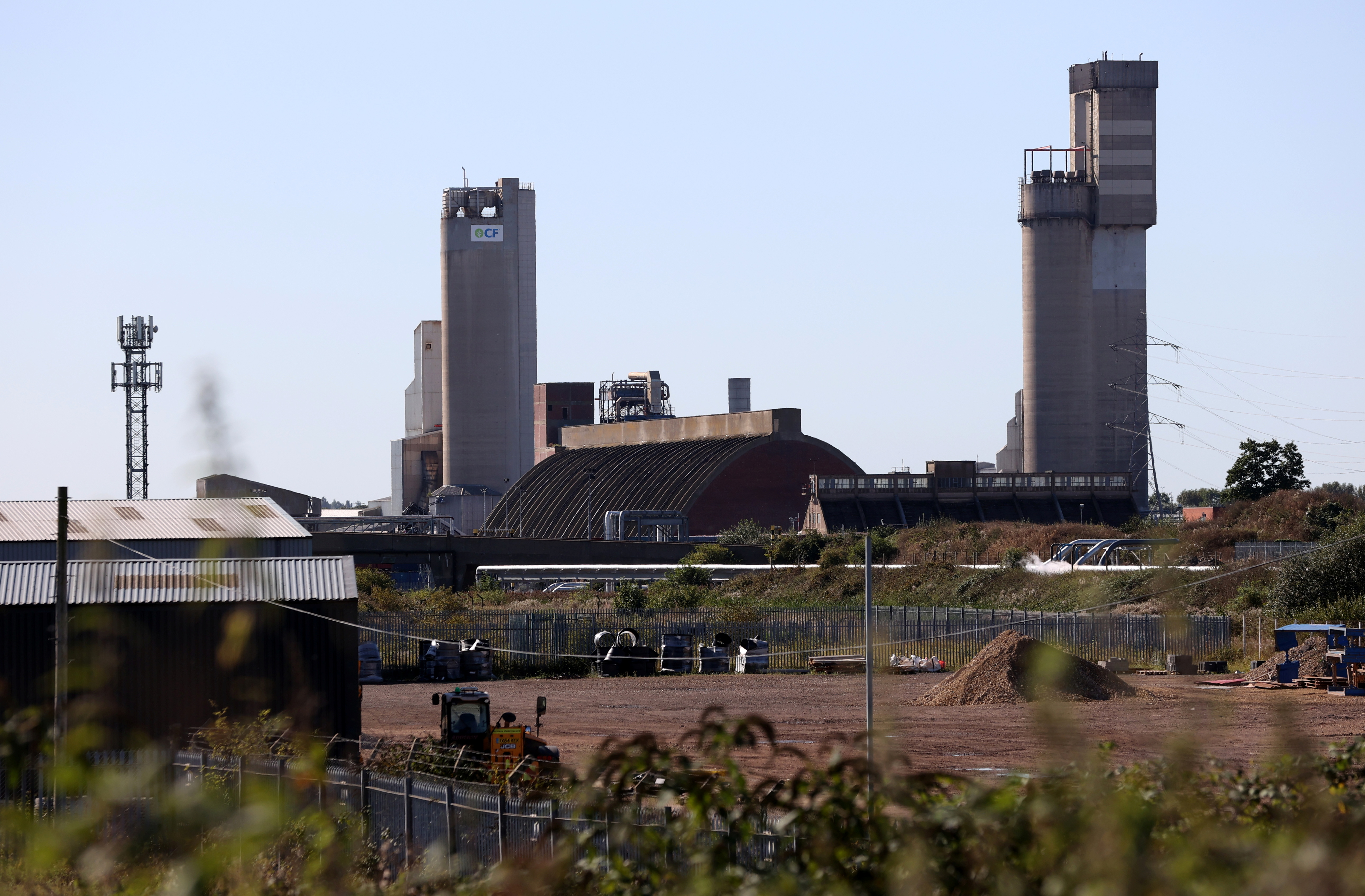A general view of the CF industries plant in Billingham, Britain September 20, 2021. REUTERS/Lee Smith