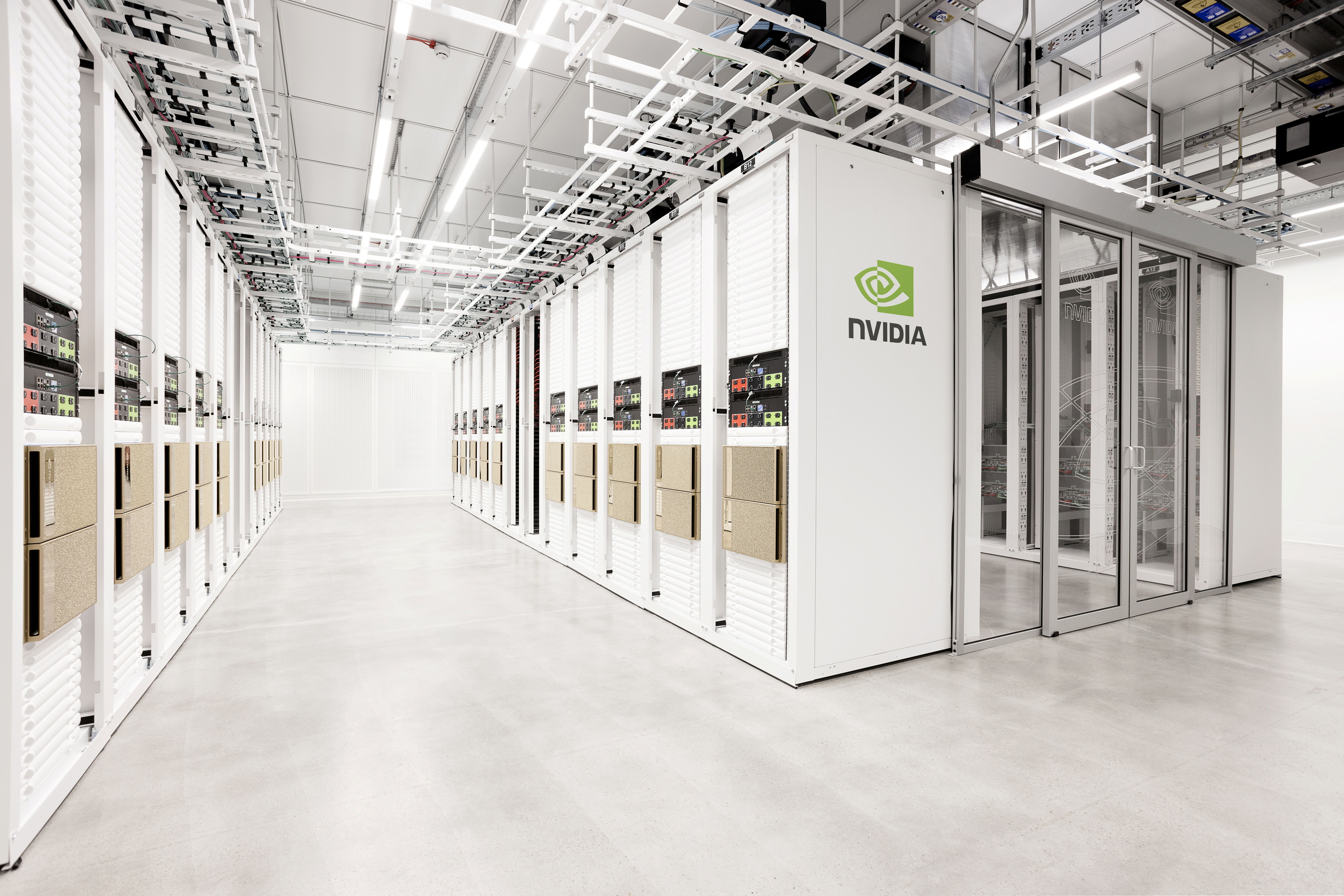 The Cambridge-1 supercomputer, which owner Nvidia Corp says is the United Kingdom's fastest supercomputer, is seen in Cambridge, Britain, in this undated handout photo obtained by Reuters. Courtesy of Nvidia Corp/Handout via REUTERS