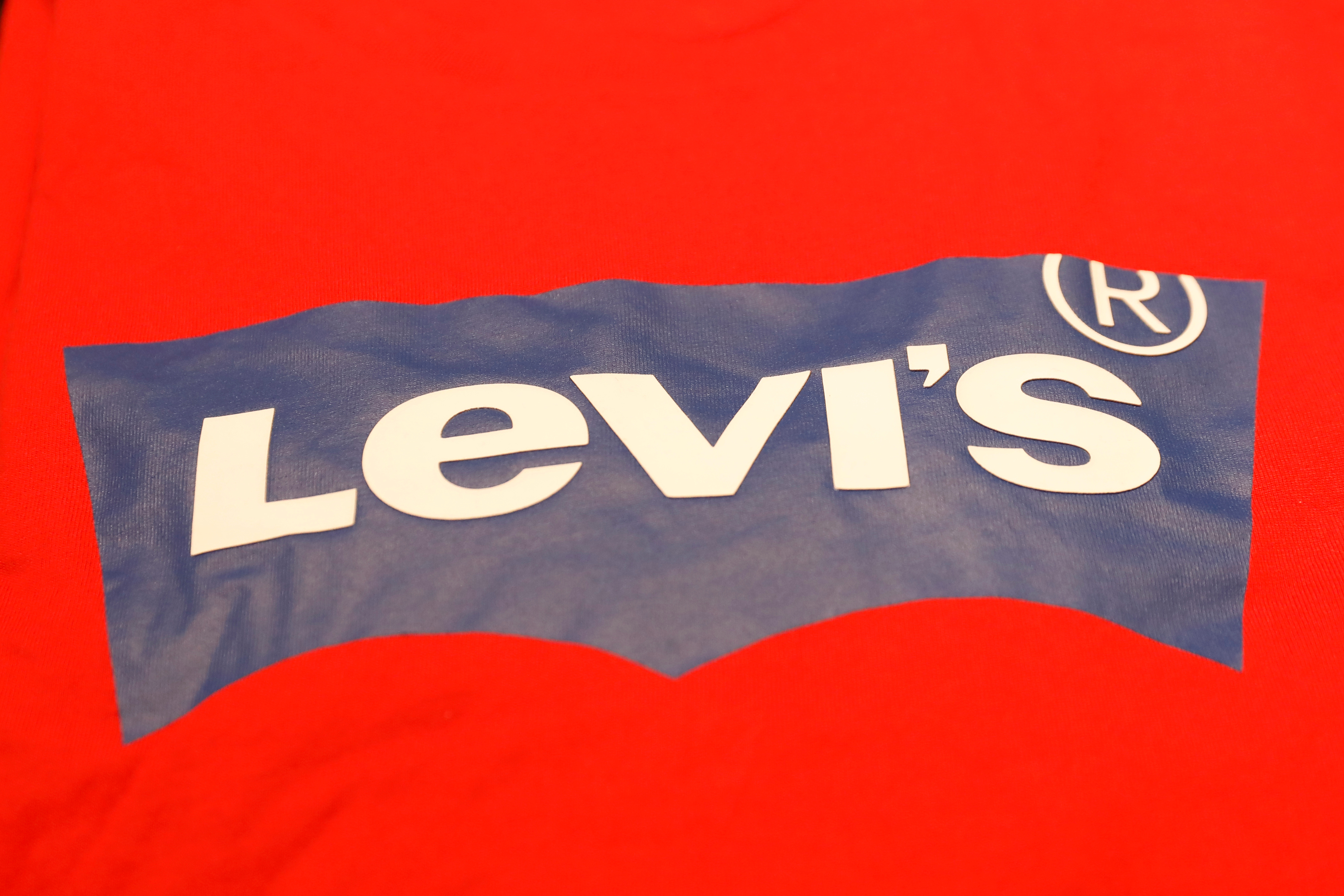 A Levi's logo is seen on a shirt in a Levi Strauss store in New York, U.S., March 19, 2019. REUTERS/Shannon Stapleton
