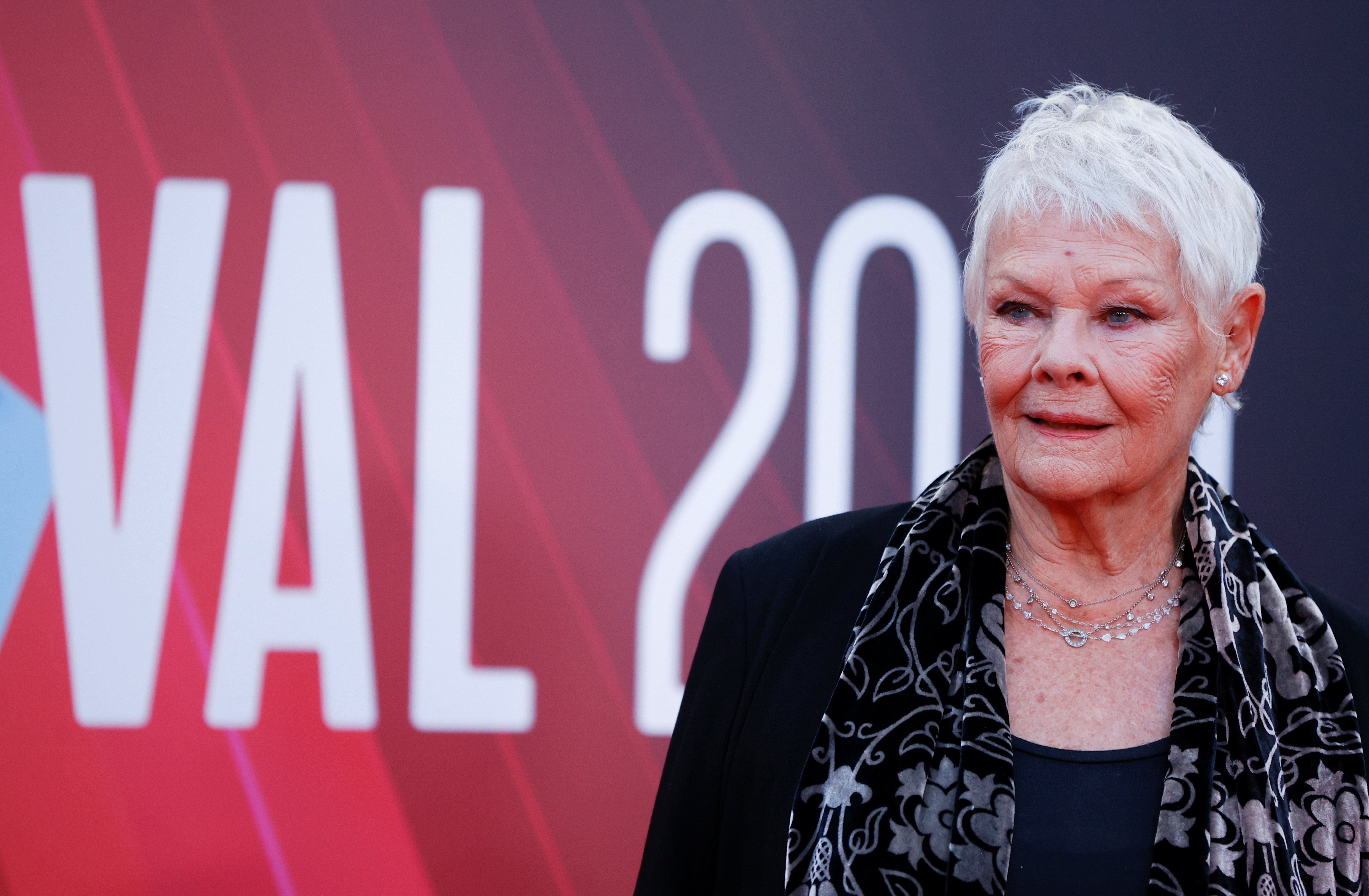 Cast member Judi Dench arrives at a screening of the film