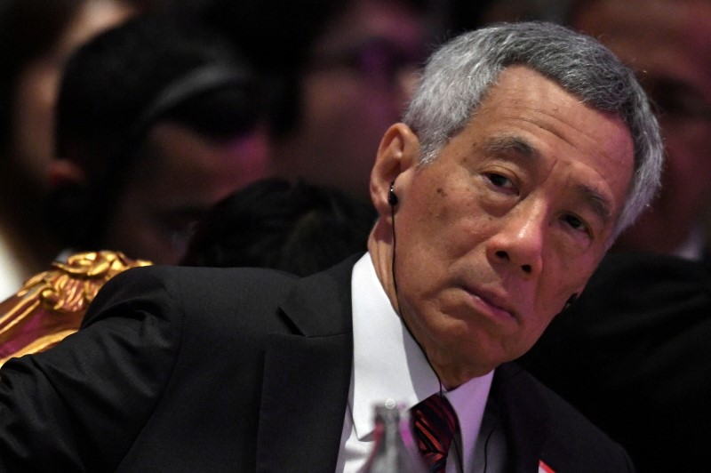 Singapore's Prime Minister Lee Hsien Loong attends the 22nd ASEAN Plus Three Summit in Bangkok, Thailand, November 4, 2019. REUTERS/Chalinee Thirasupa/File Photo