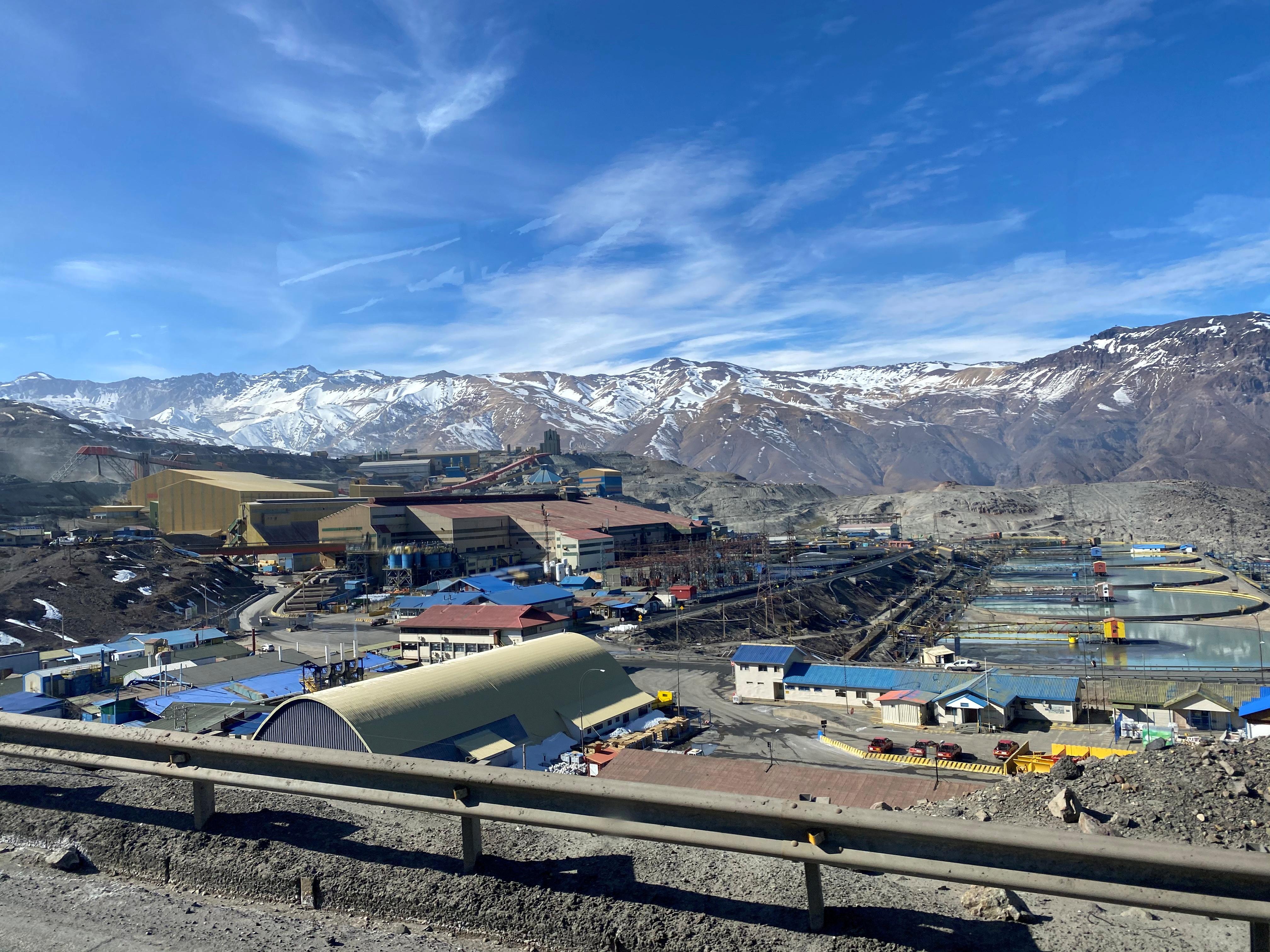 The Codelco El Teniente copper mine, the world's largest underground copper mine is shown near Rancagua, Chile August 13, 2020. Picture taken through a window. REUTERS/Fabian Cambero