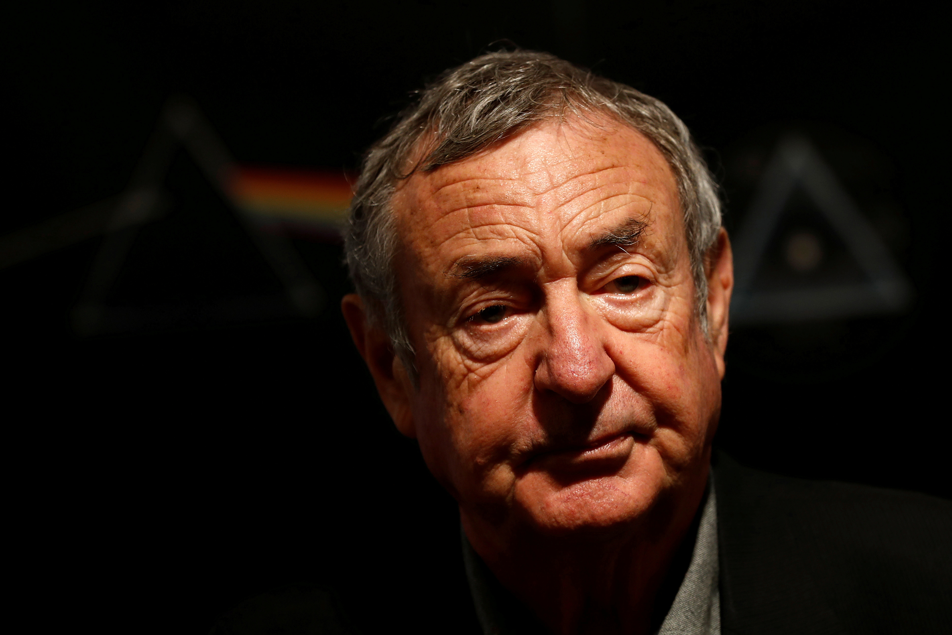 Nick Mason of Pink Floyd poses for photographers at Bonhams auctioneers in London, March 20, 2017. REUTERS/Stefan Wermuth