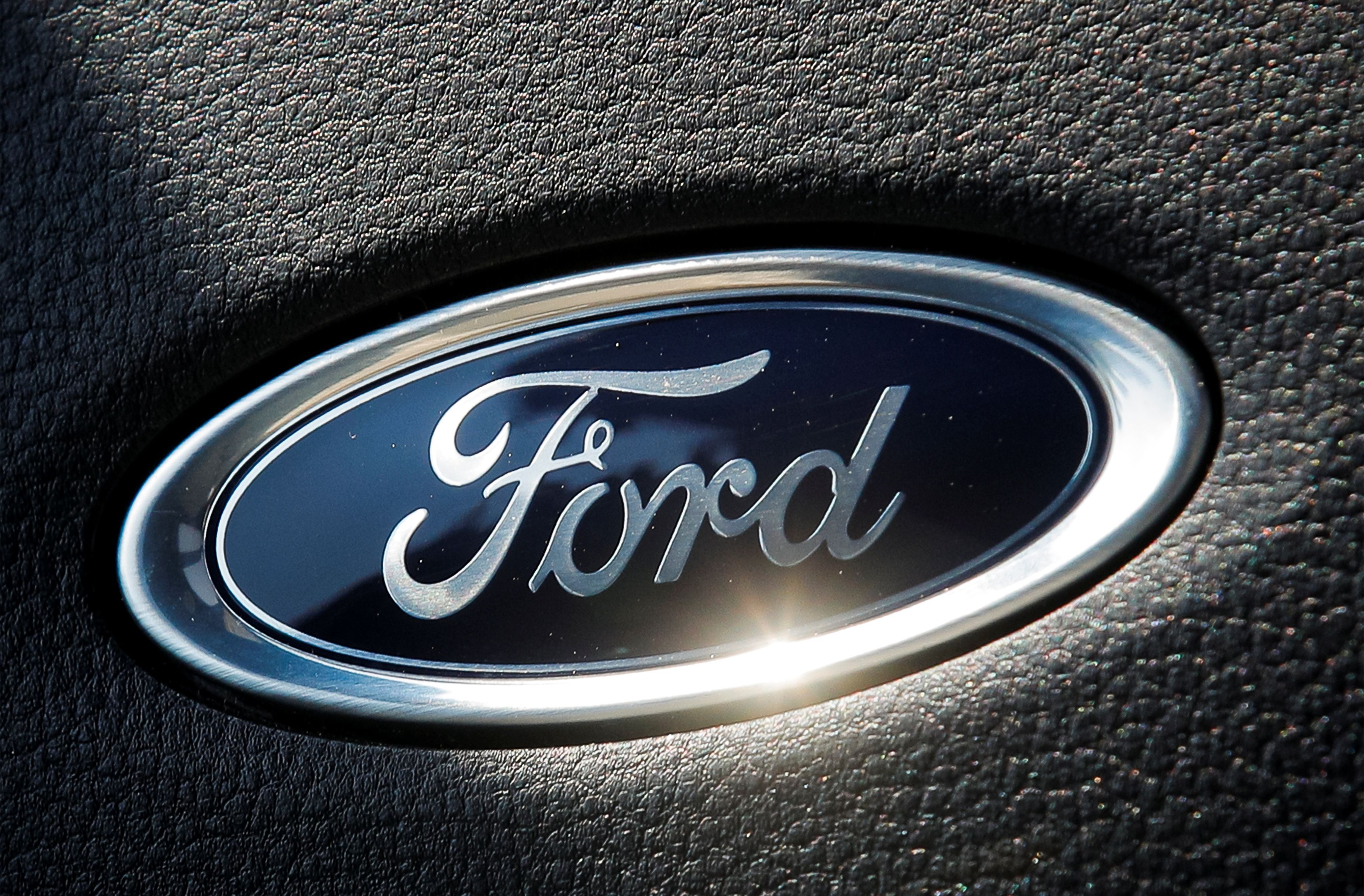 The Ford name plate.  REUTERS/Brendan McDermid