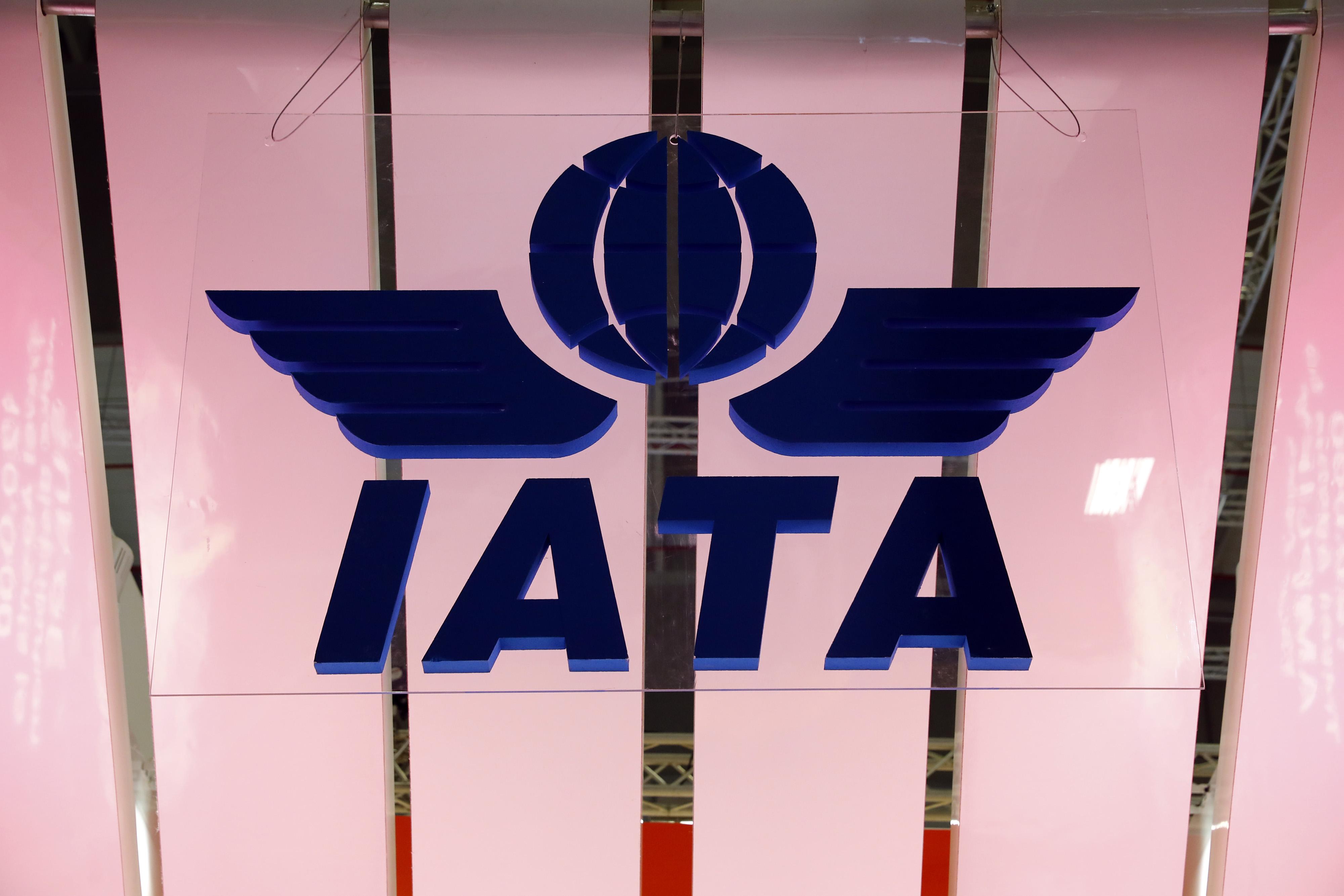 The International Air Transport Association (IATA) logo is seen at the International Tourism Trade Fair ITB in Berlin, Germany, March 7, 2018. REUTERS/Fabrizio Bensch