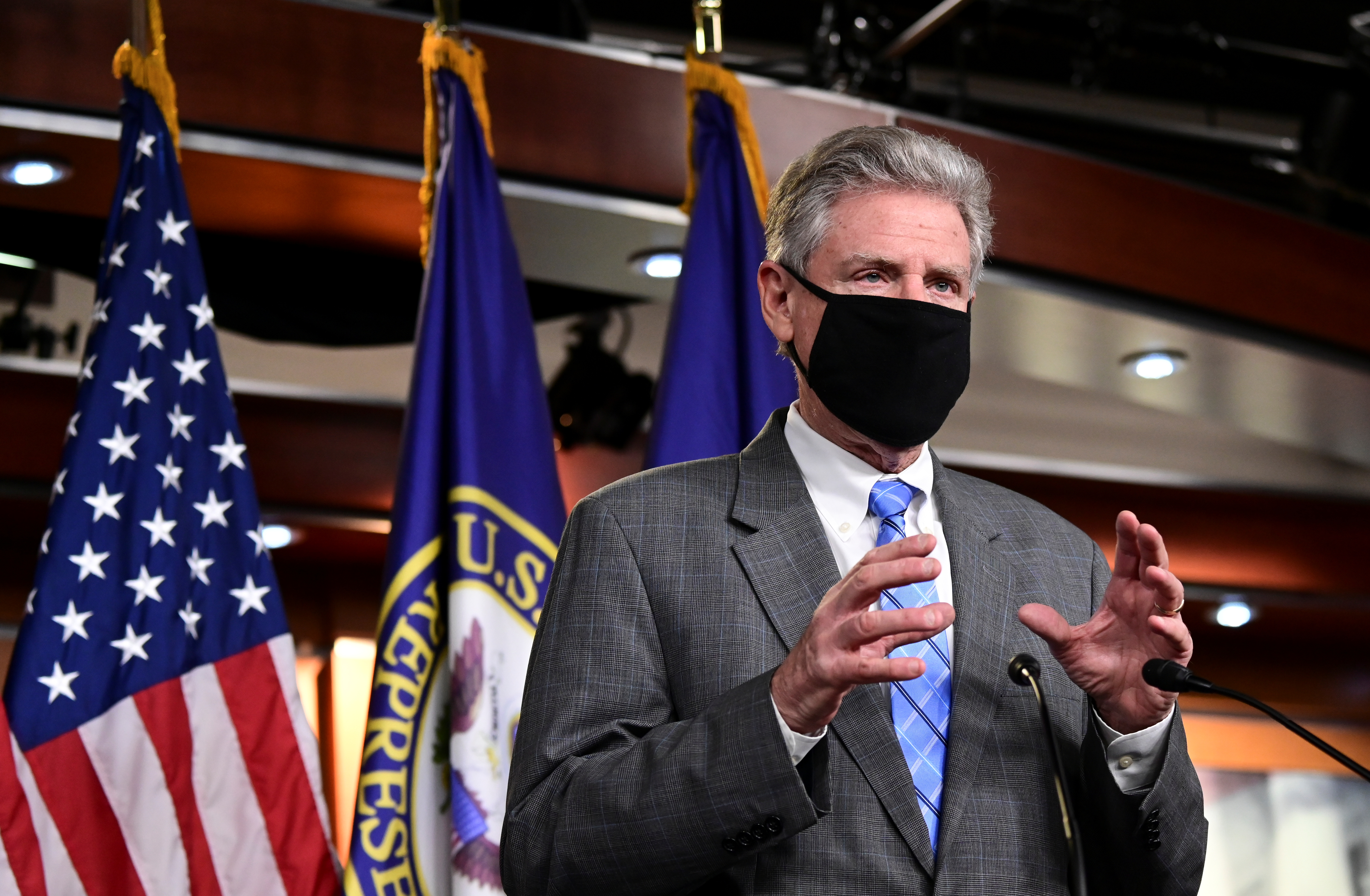 U.S. House Energy and Commerce Committee Chairman Frank Pallone (D-NJ) speaks during a news conference with fellow Democrats at the U.S. Capitol in Washington, U.S., November 6, 2020. REUTERS/Erin Scott
