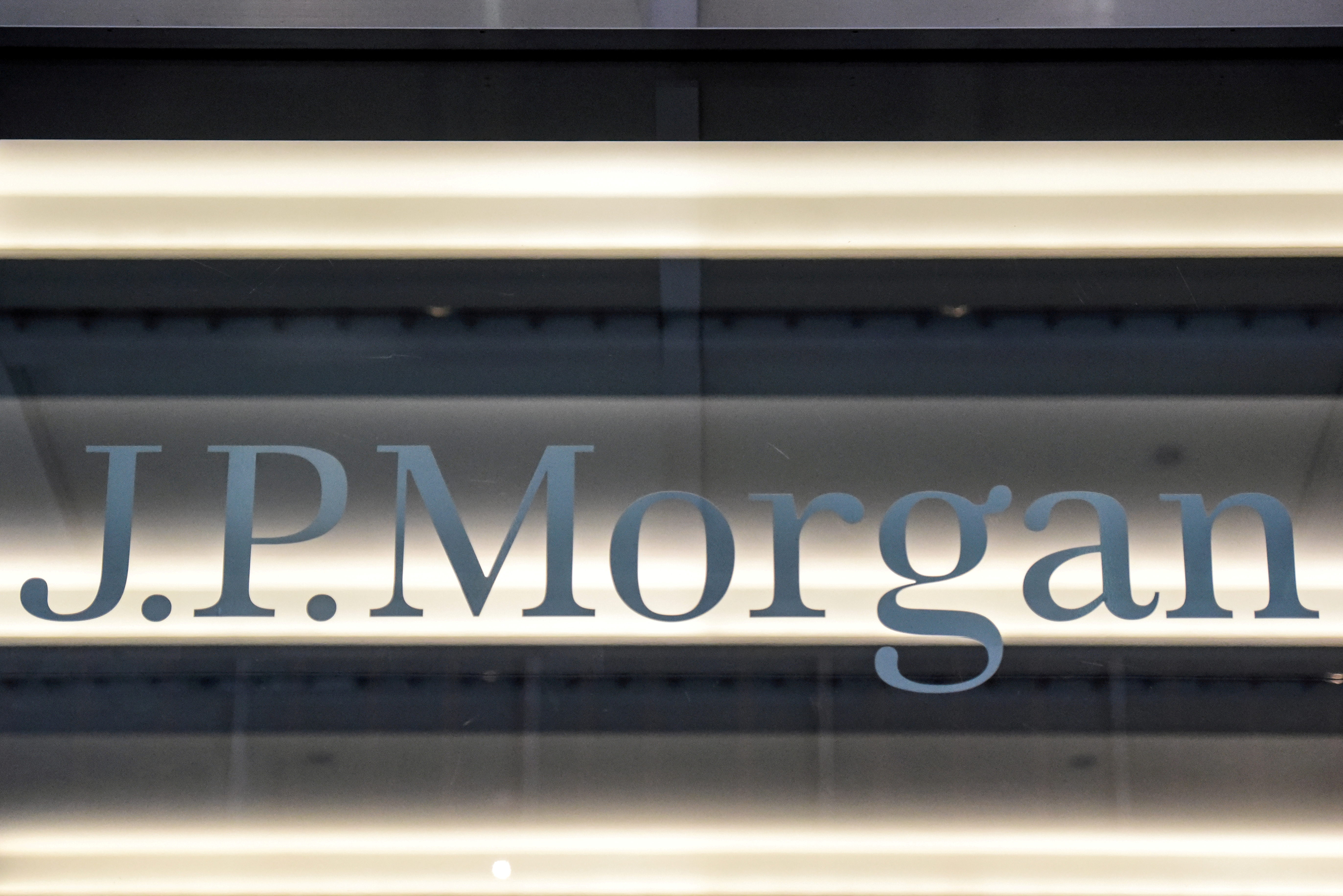 A J.P. Morgan logo is seen in New York City, U.S., January 10, 2017. REUTERS/Stephanie Keith