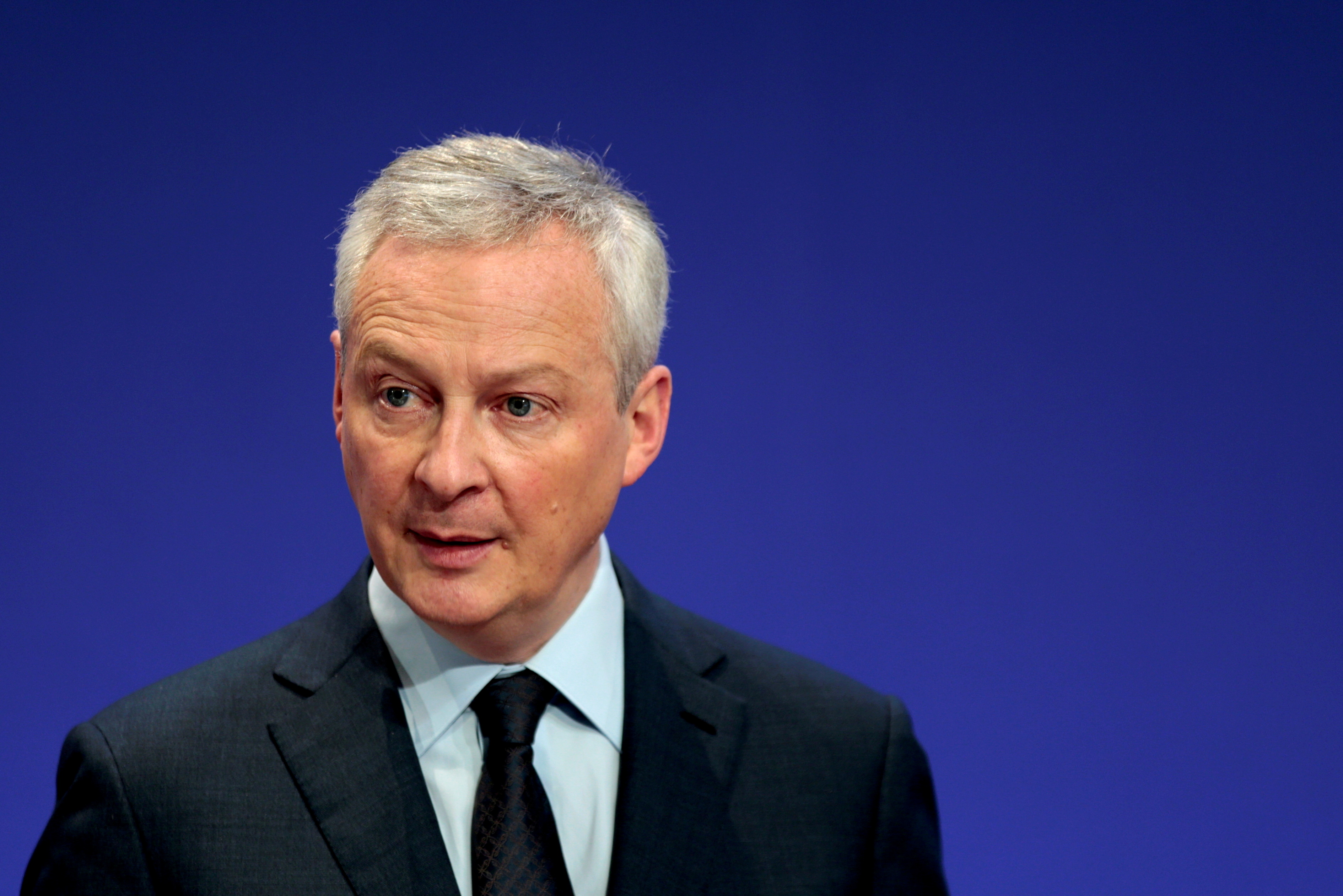 French Economy and Finance Minister Bruno Le Maire attends a news conference in Paris, France, April 8, 2021. REUTERS/Sarah Meyssonnier