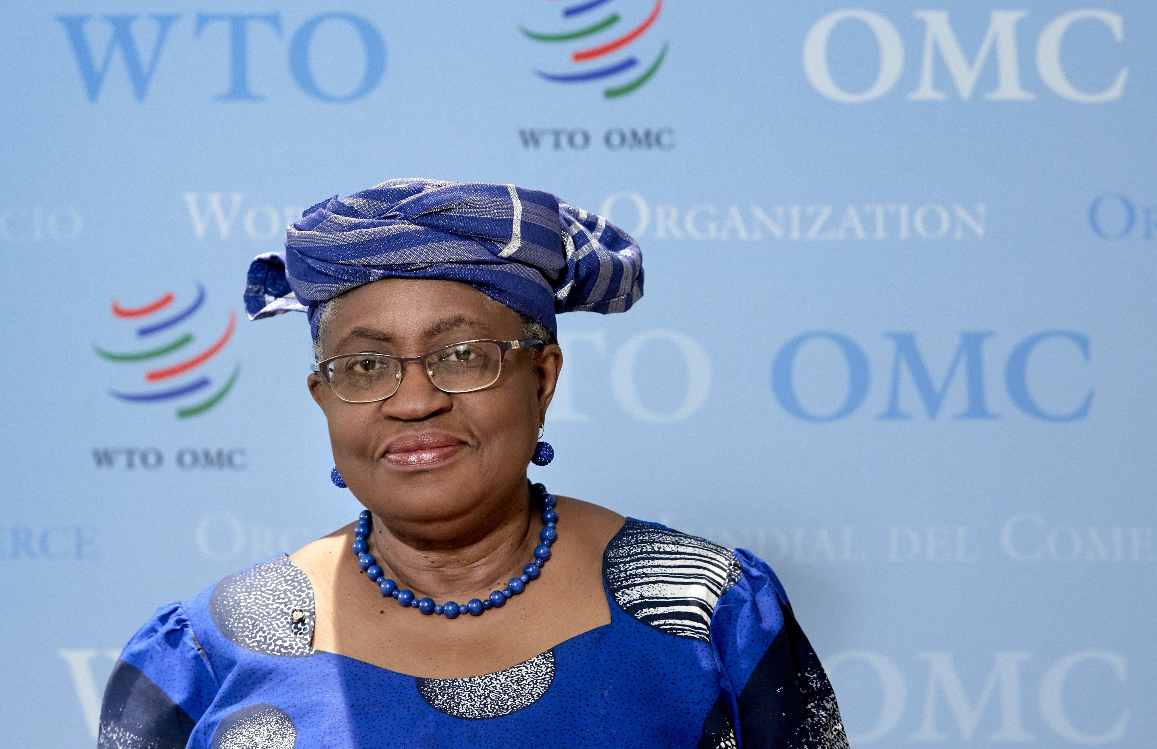 World Trade Organisation (WTO) Director-General Ngozi Okonjo-Iweala poses before an interview with Reuters at the WTO headquarters in Geneva, Switzerland, April 12, 2021. REUTERS/Denis Balibouse/
