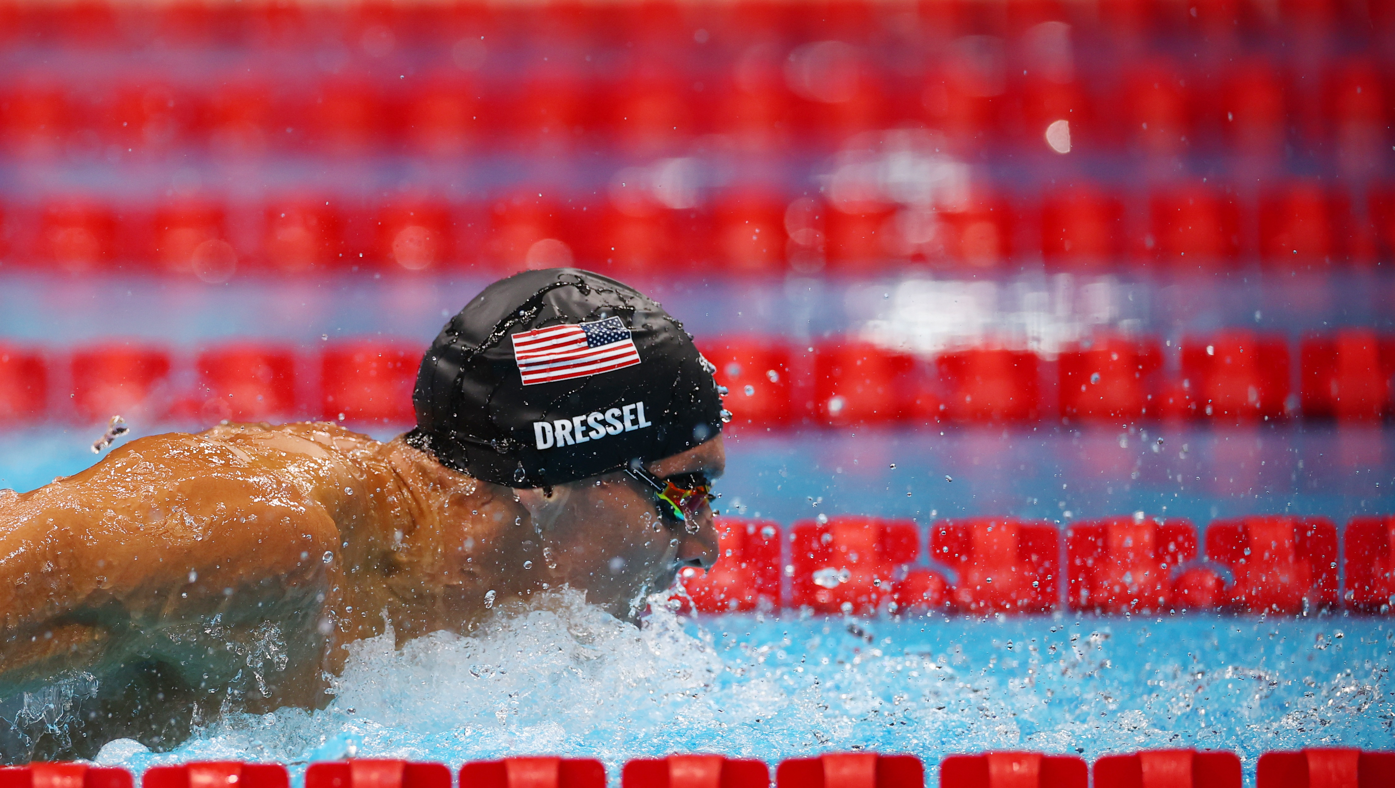 Tokyo 2020 Olympics - Swimming - Men's 100m Butterfly - Semifinal 2  - Tokyo Aquatics Centre - Tokyo, Japan - July 30, 2021. Caeleb Dressel of the United States in action REUTERS/Stefan Wermuth