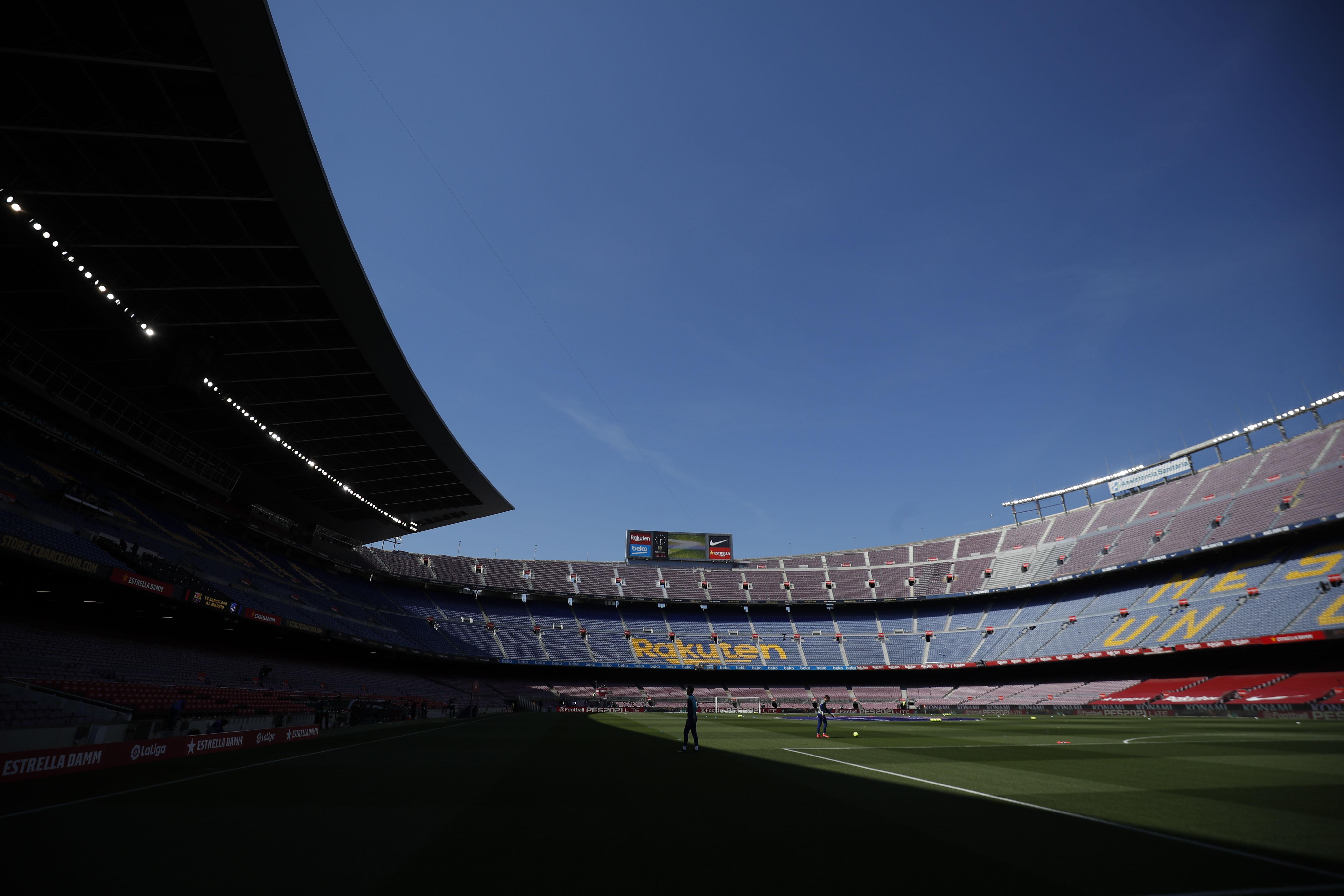 Soccer Football - La Liga Santander - FC Barcelona v Atletico Madrid - Camp Nou, Barcelona, Spain - May 8, 2021 General view inside the stadium before the match REUTERS/Albert Gea/File Photo