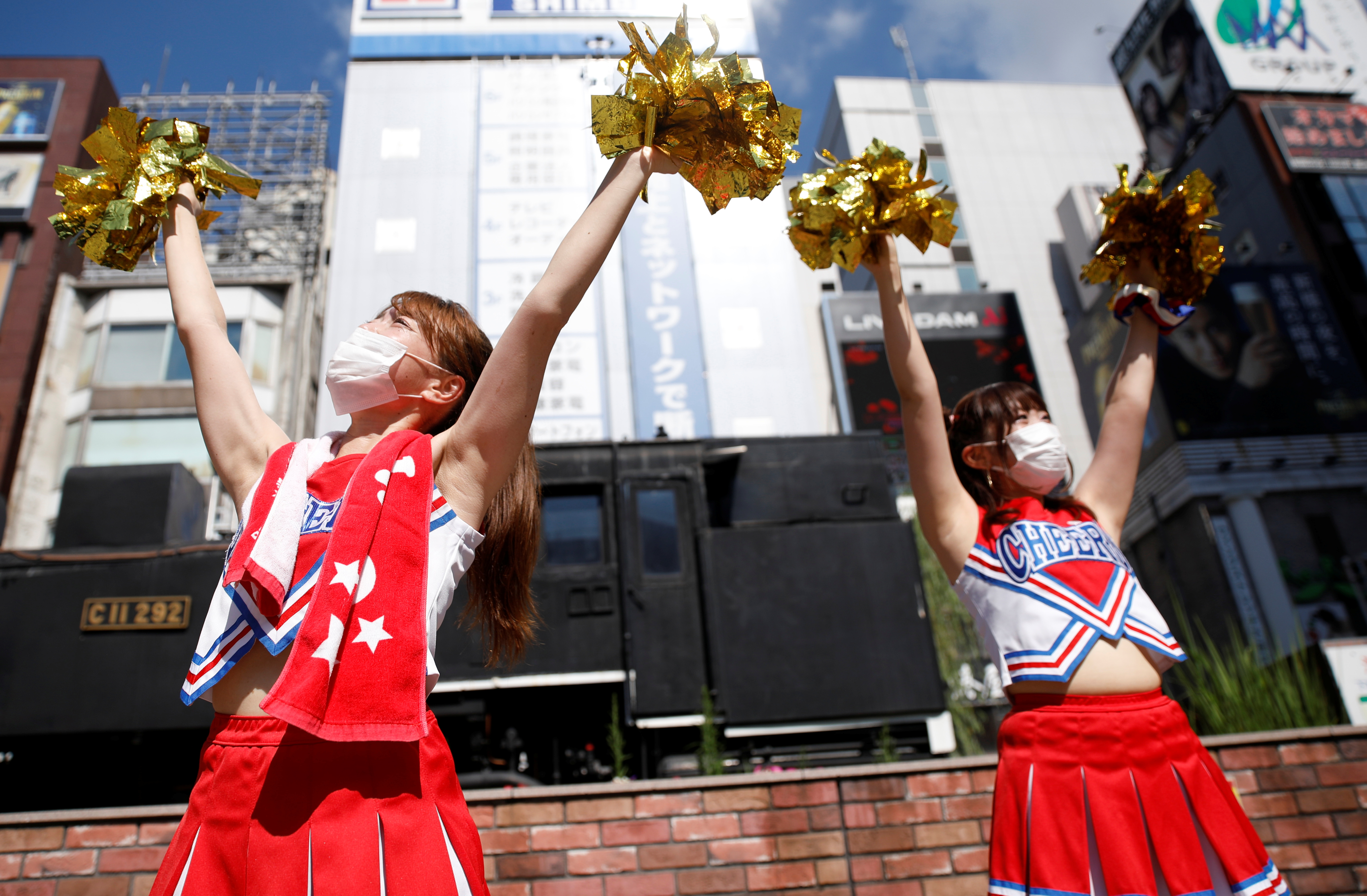 Cheerleaders from the