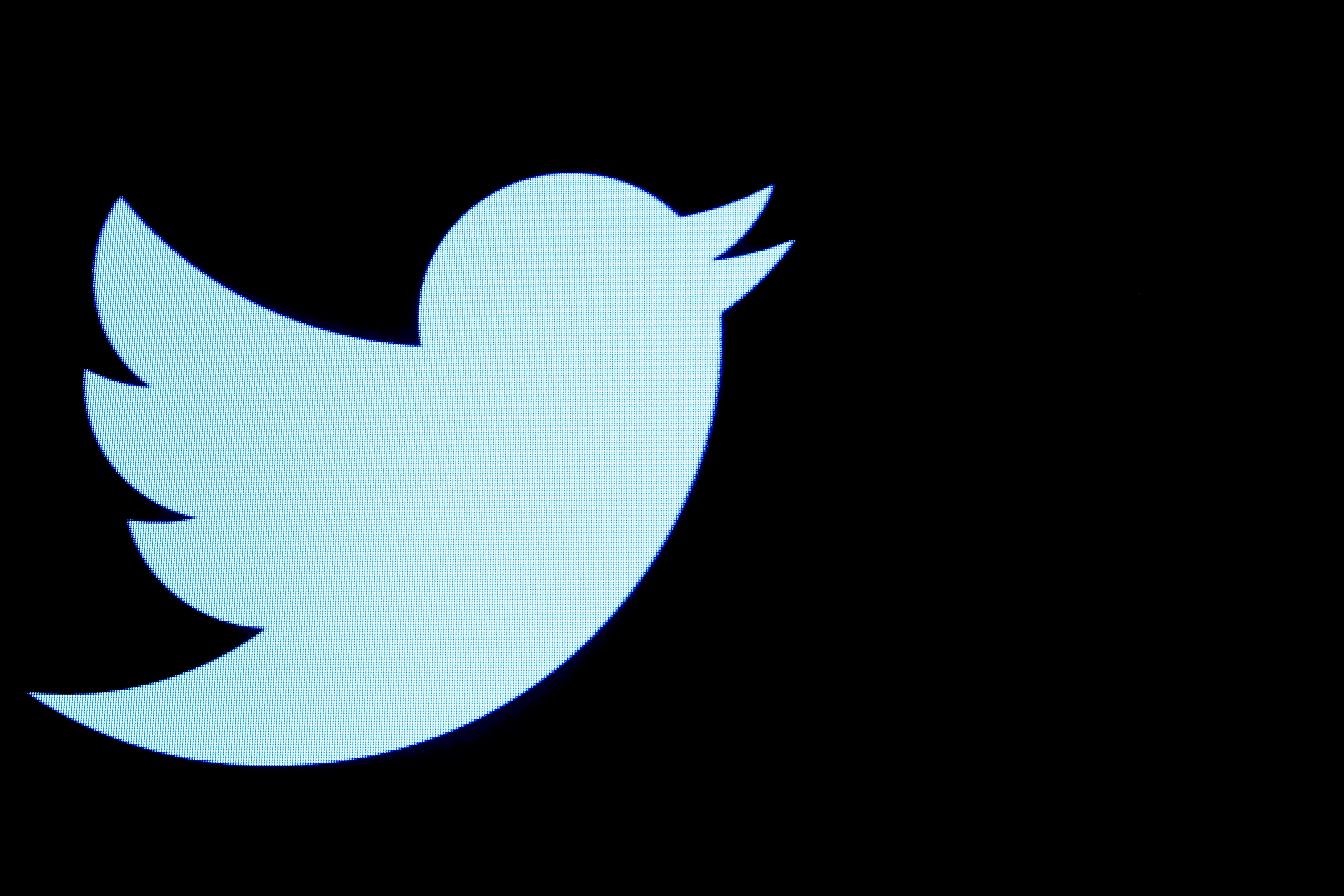 The Twitter logo is displayed on a screen on the floor of the New York Stock Exchange (NYSE) in New York City, U.S., September 28, 2016. REUTERS/Brendan McDermid